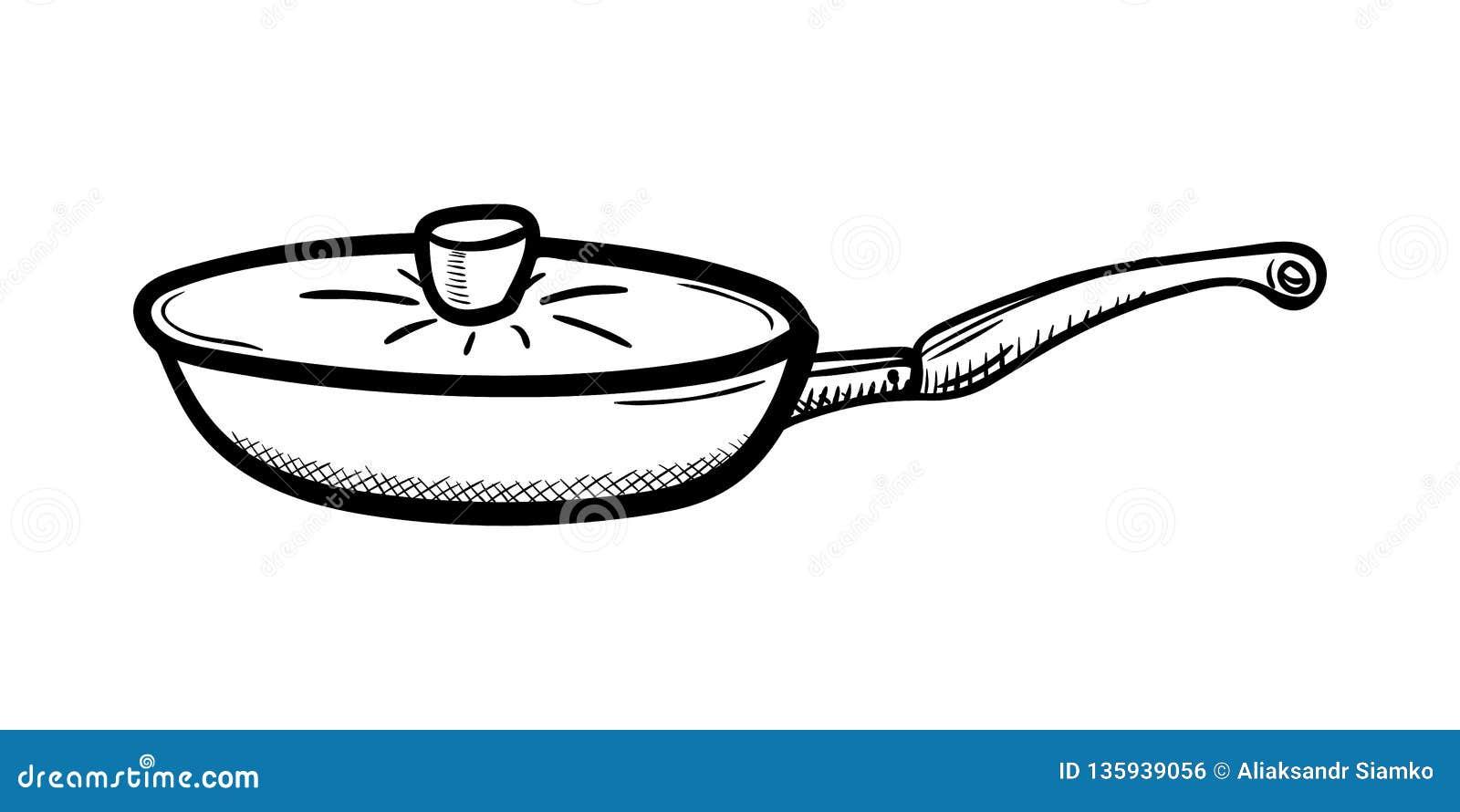 Handdrawn значок doodle лотка Эскиз нарисованный рукой черный символ знака Элемент украшения Белая предпосылка изолировано Плоски
