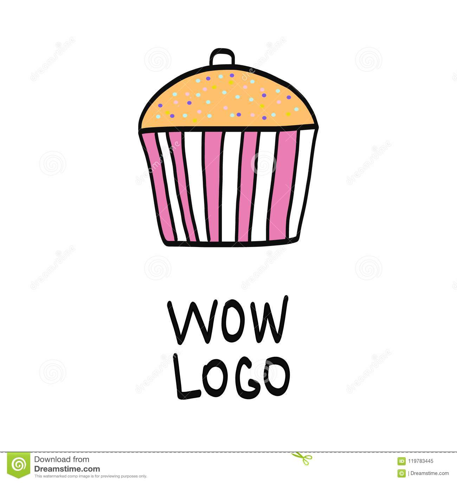 Handdrawn логотип торта