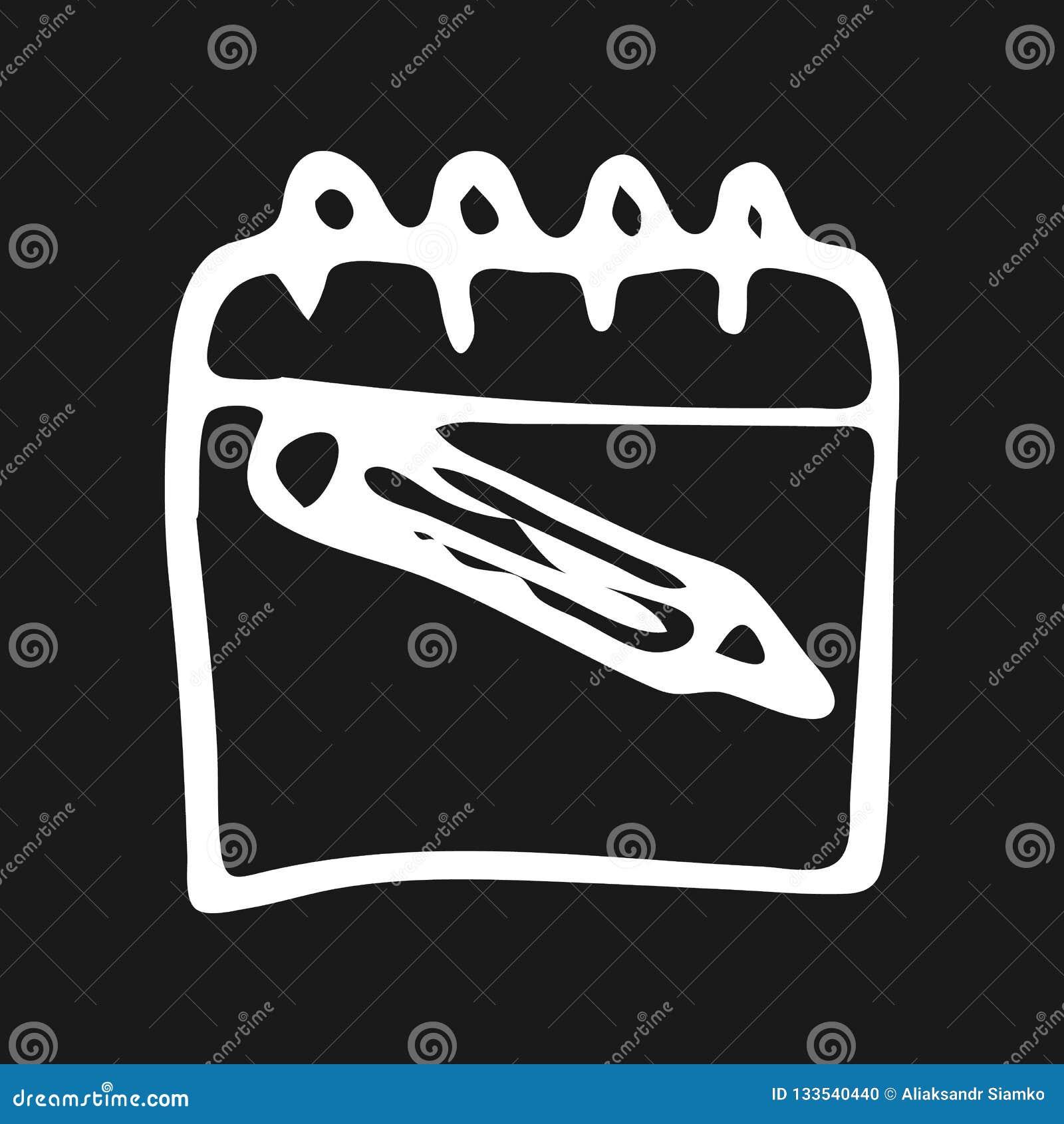 Handdrawn pictogram van de notitieboekjekrabbel Hand getrokken zwarte schets Teken sy