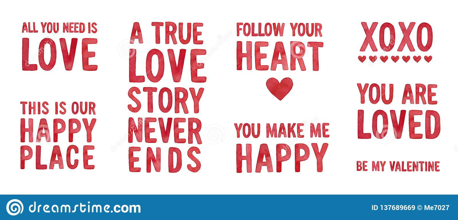 You Make Me Happy Love Quotes Collection Stock Image Image Of