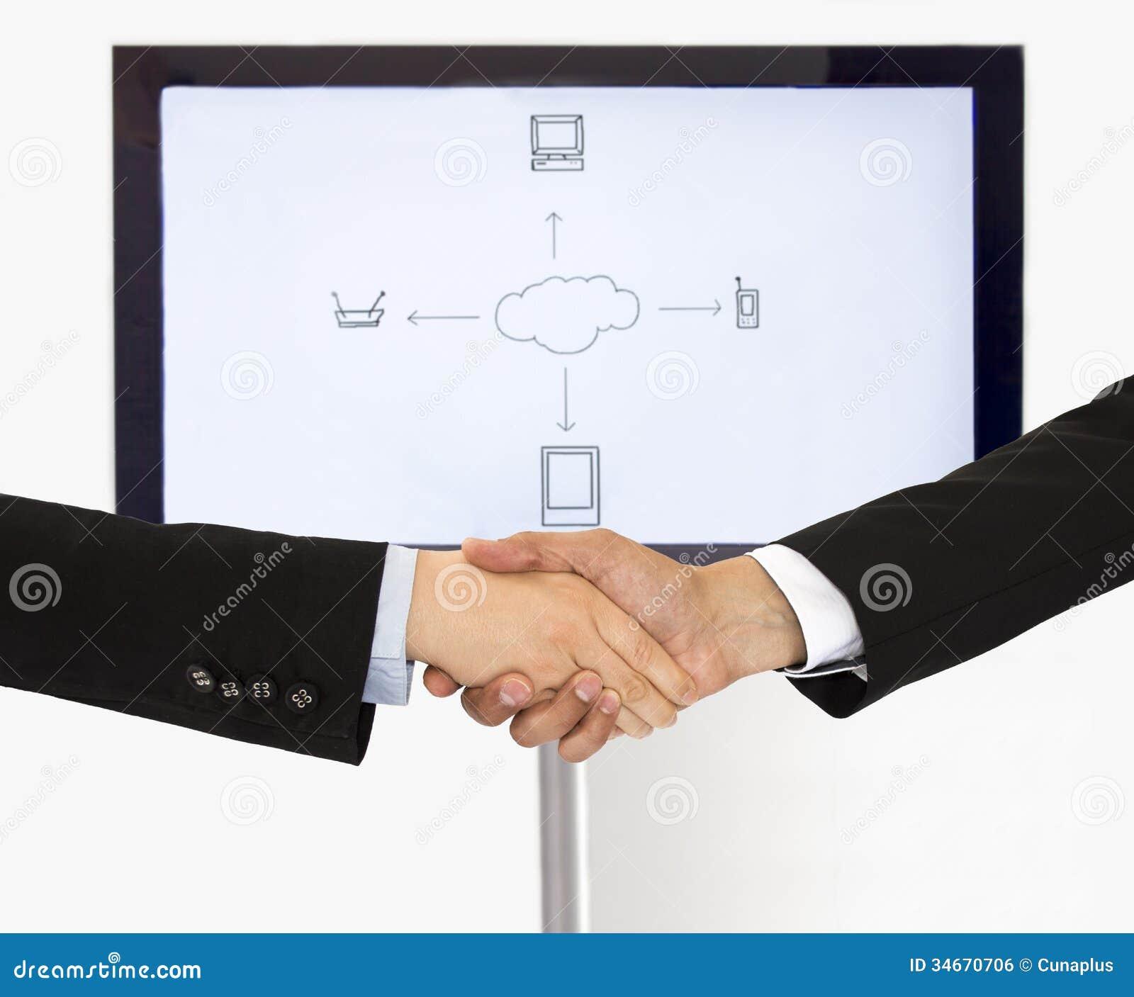Handdruk voor globale mededeling