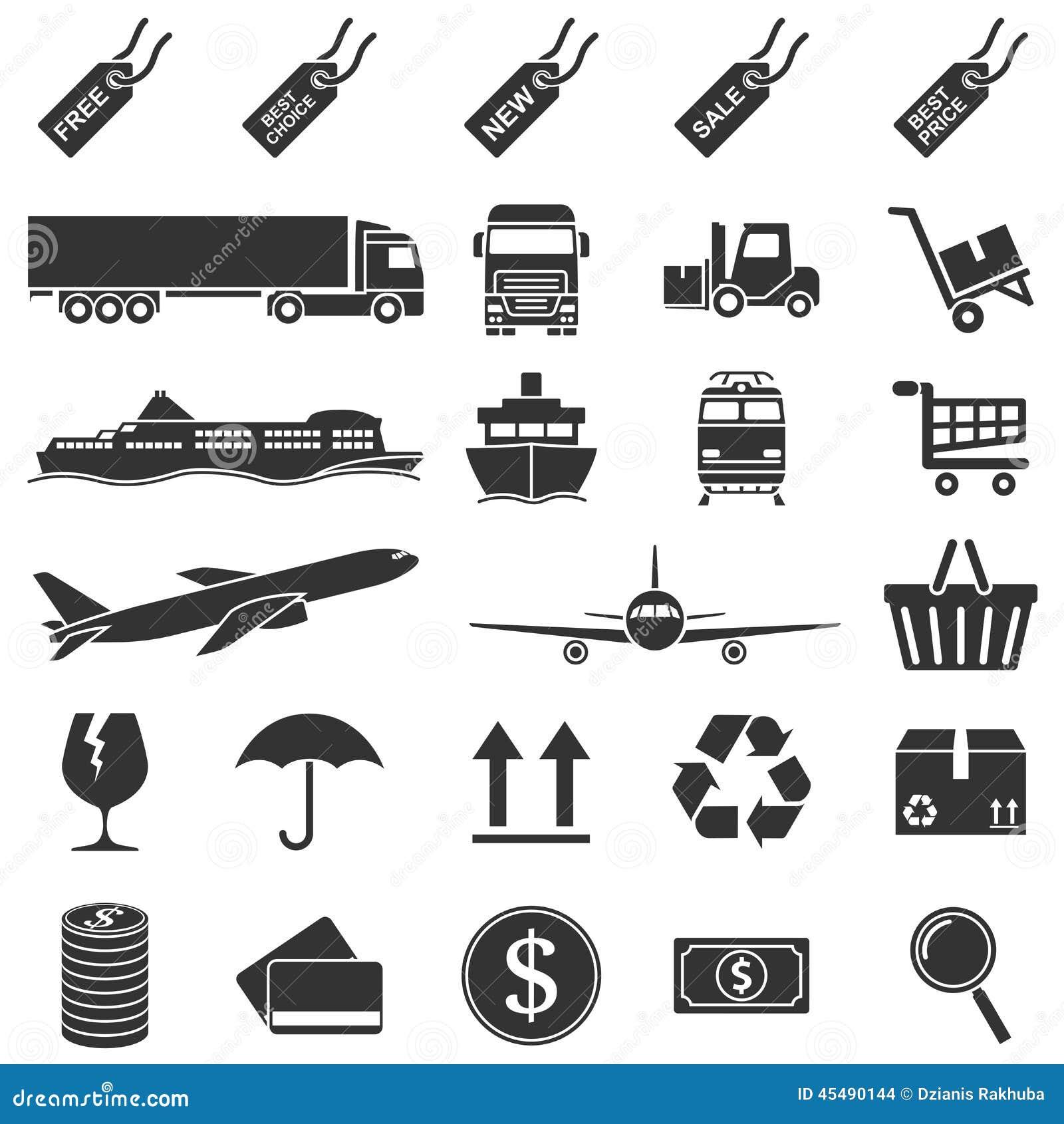 Handel elektroniczny ikony