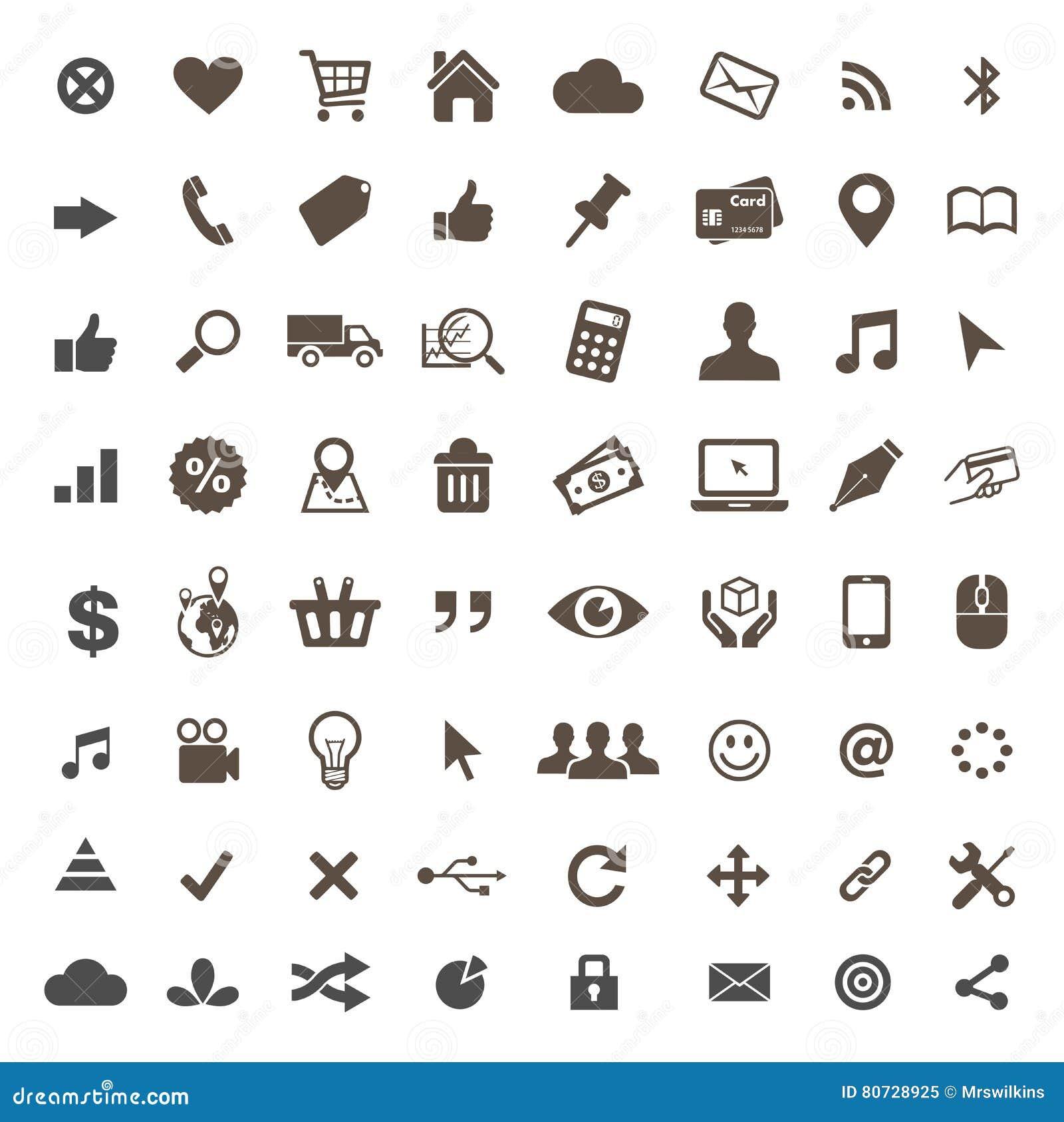Handel elektroniczny ikony ustalony wektor