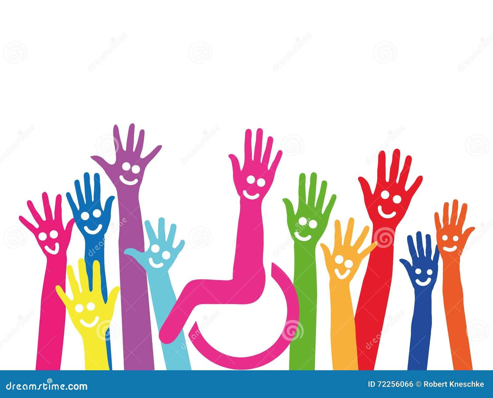 Handen als symbool van opneming en integratie