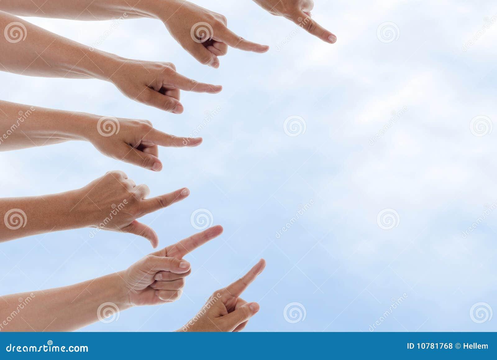 Handen die net richten