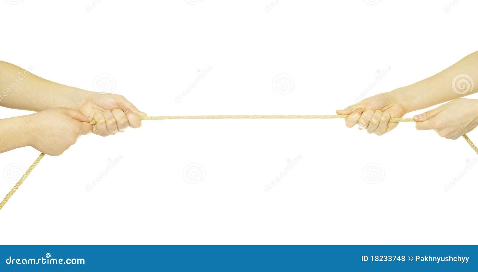 Handen en kabel