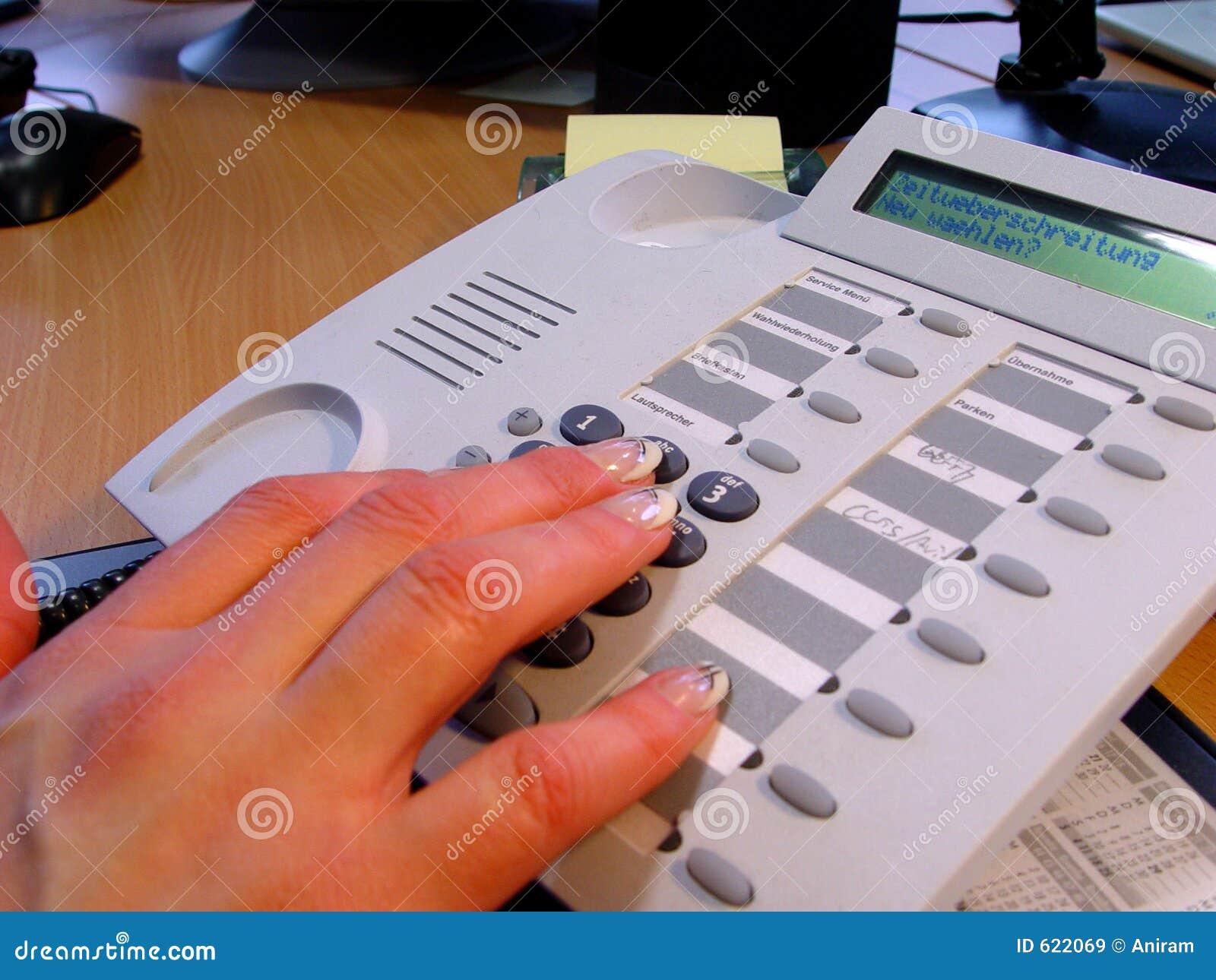 Handen en telefoon