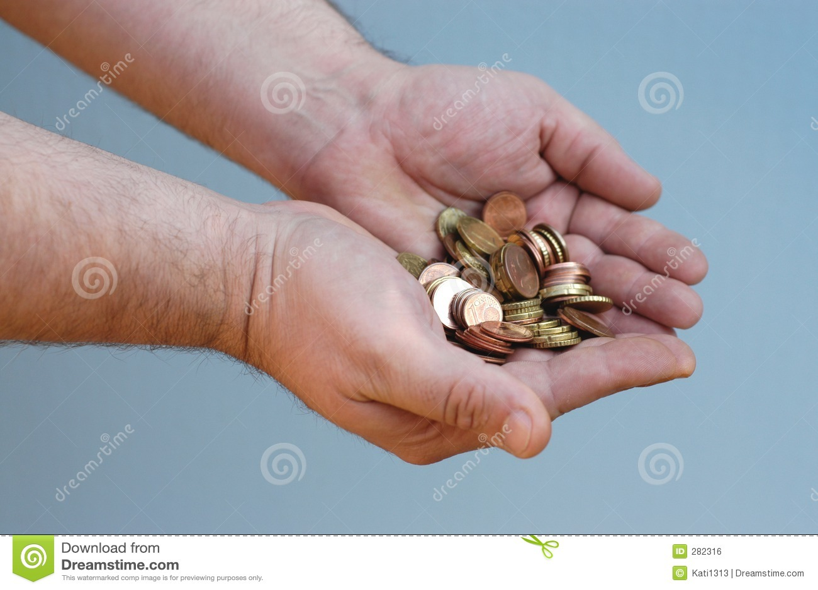 Handen: geld