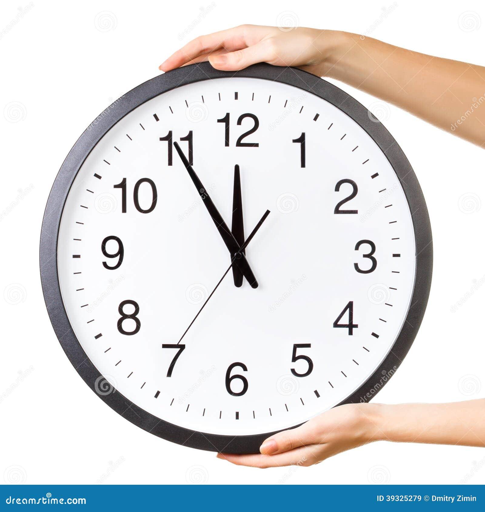 Handen met een grote klok stock foto afbeelding 39325279 - Klok cm ...