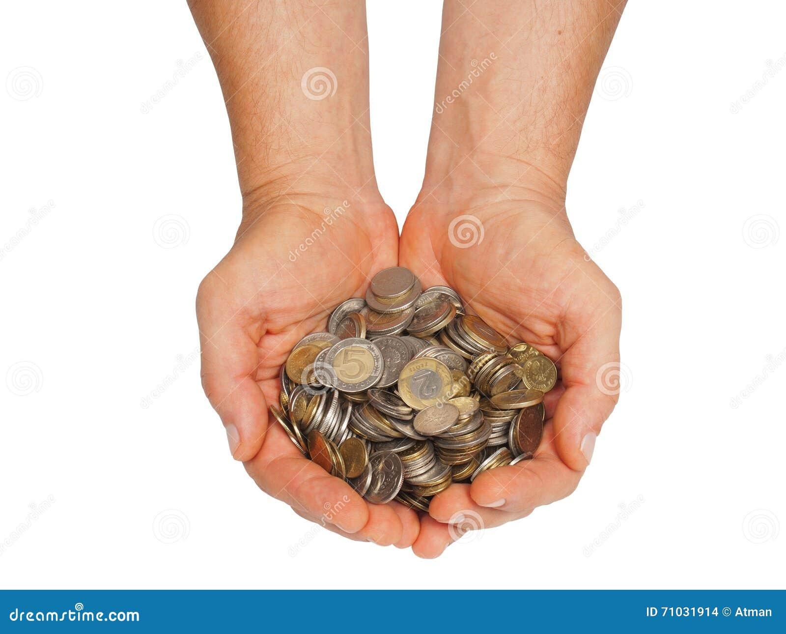 Handen met Pools geld