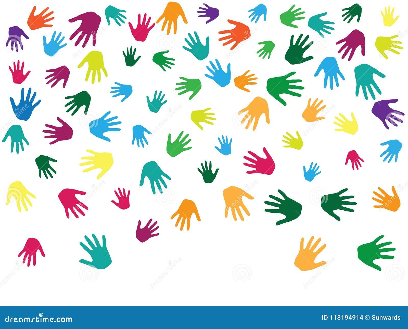 Handen, palmen op wit vector grafisch ontwerp worden geïsoleerd dat als achtergrond