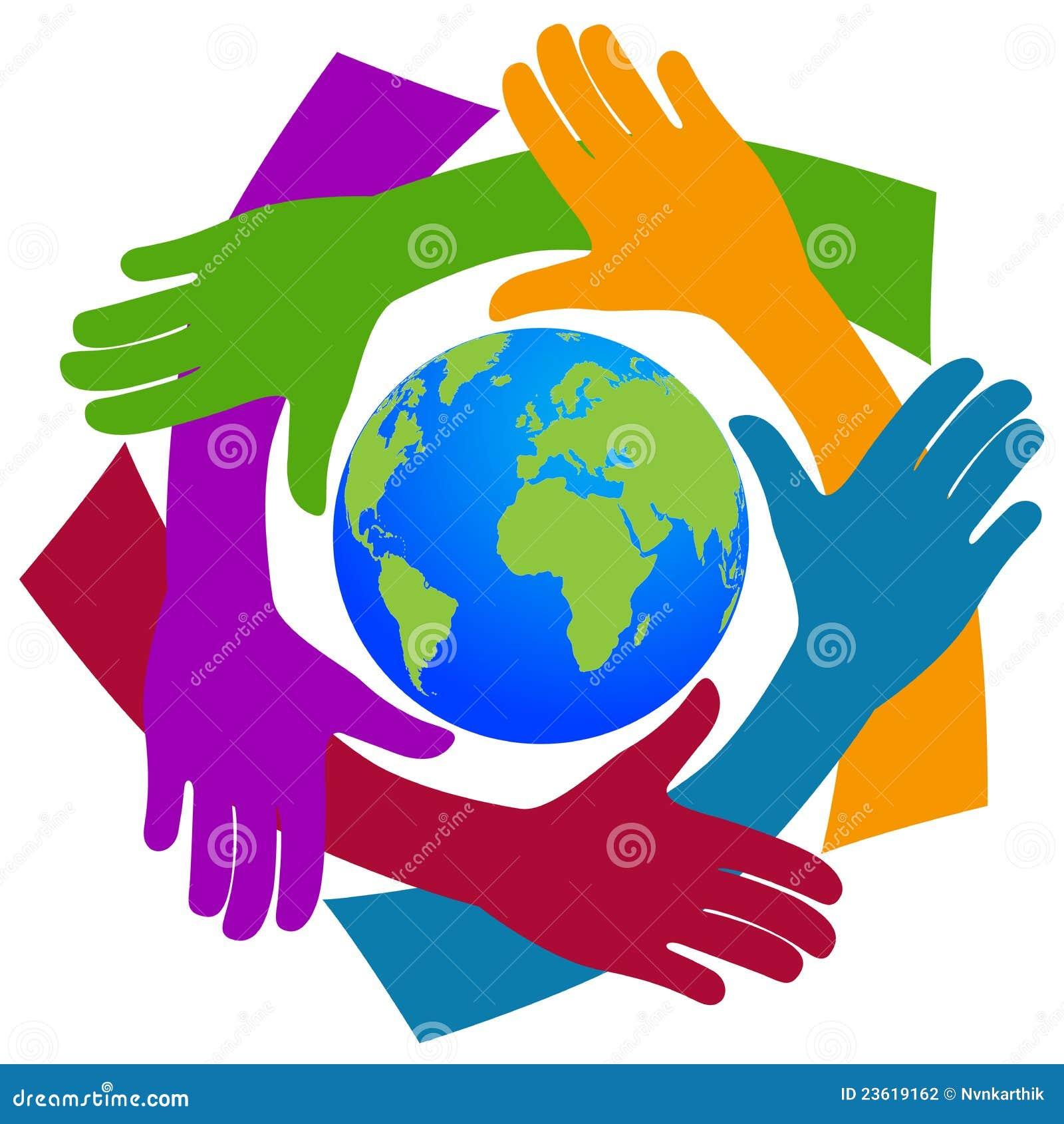 Handen rond de wereld