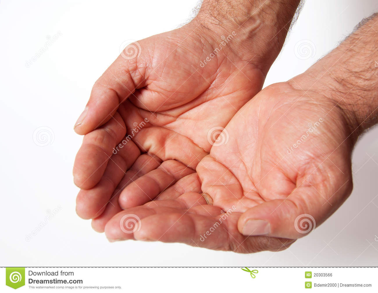 Handful Adult Human Hands Fortune Beg Labor Pray Royalty