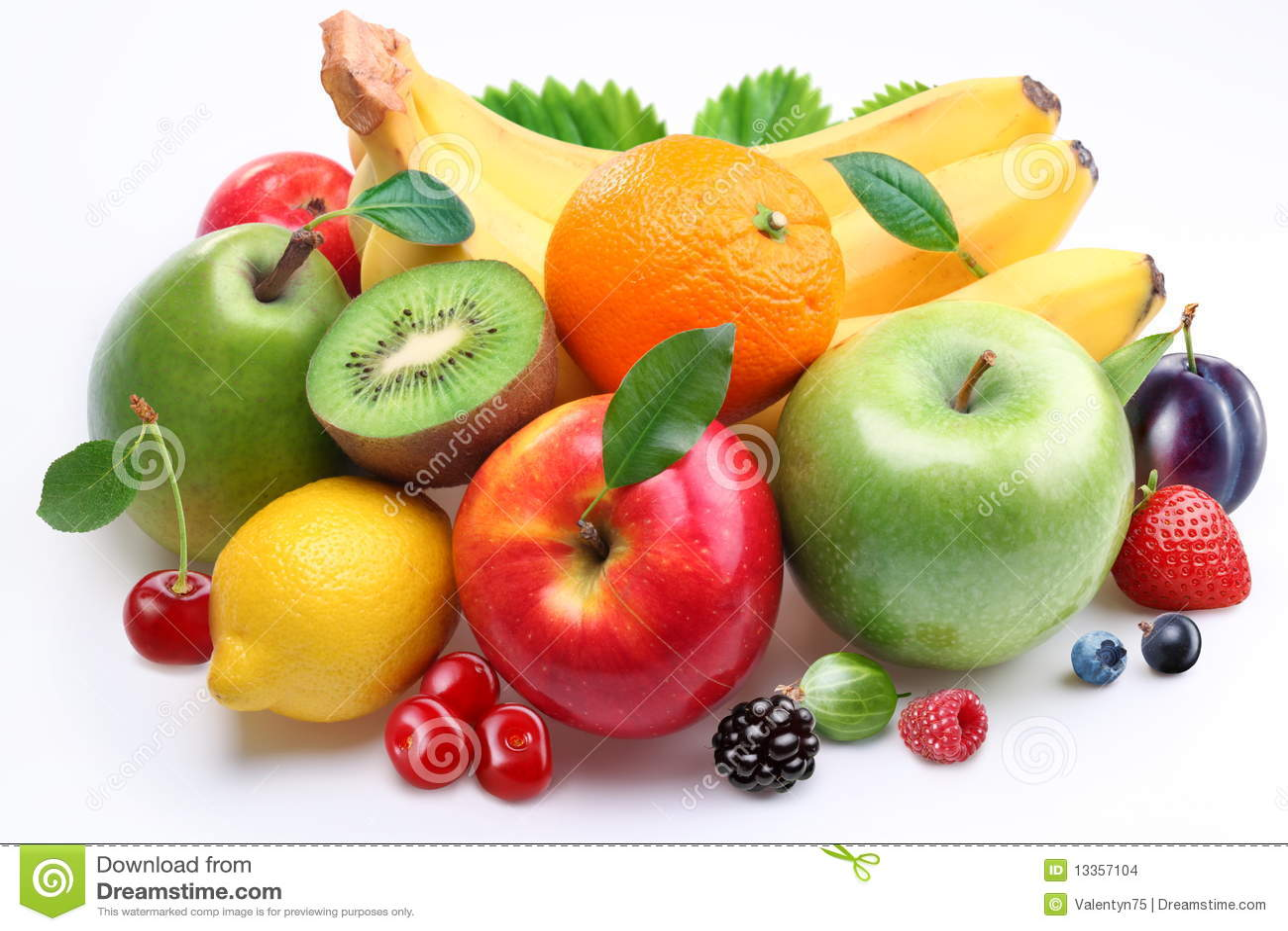 Handful of fruit and berries