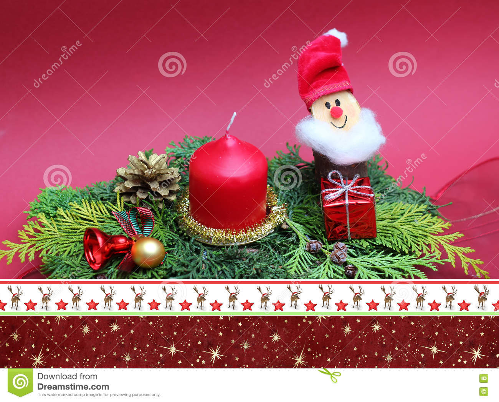 Handgefertigter Weihnachtsspray Mit Zwerg Und Kerze, Christmassy ...