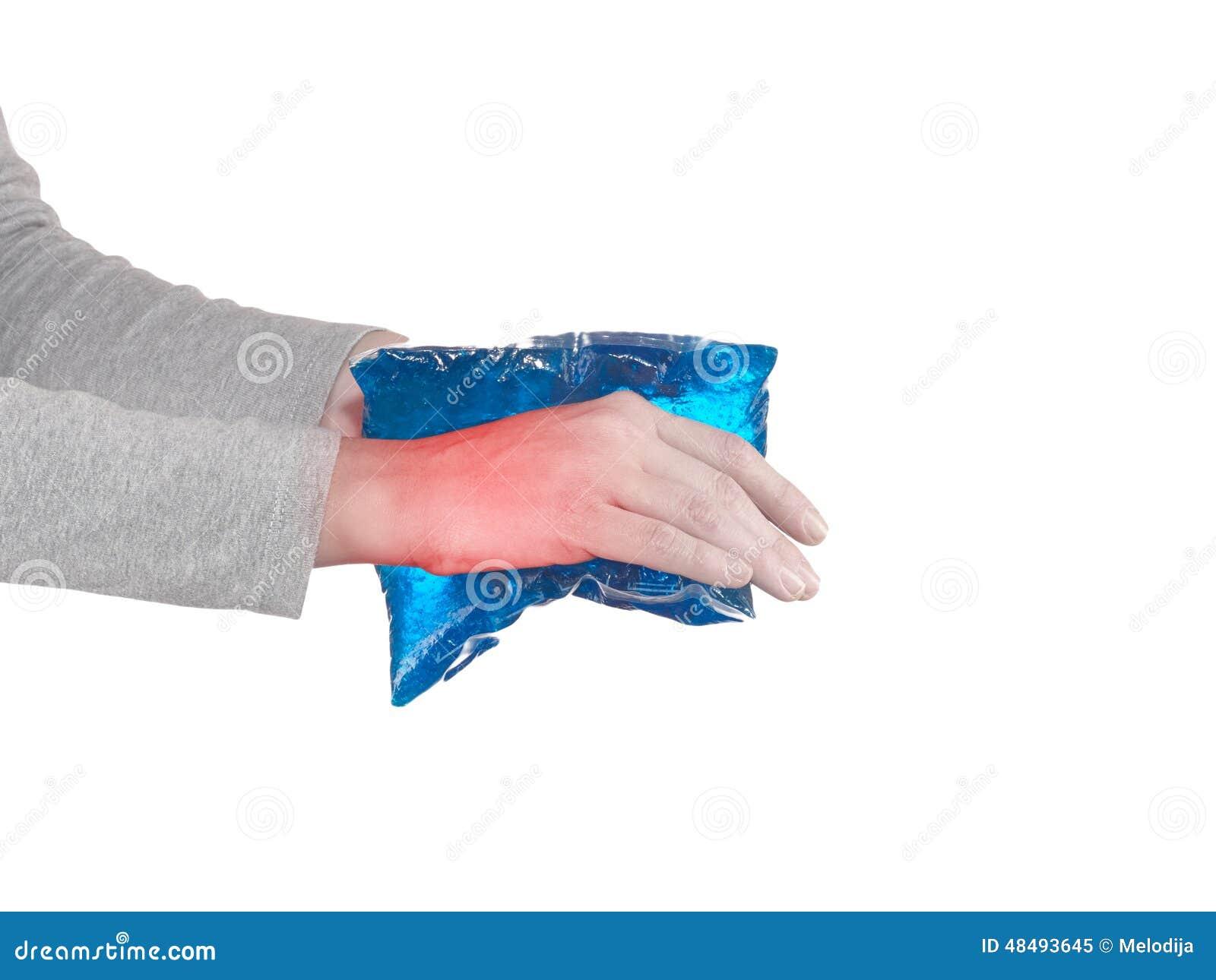 Handgelenk-Verletzung stockbild. Bild von verletzung