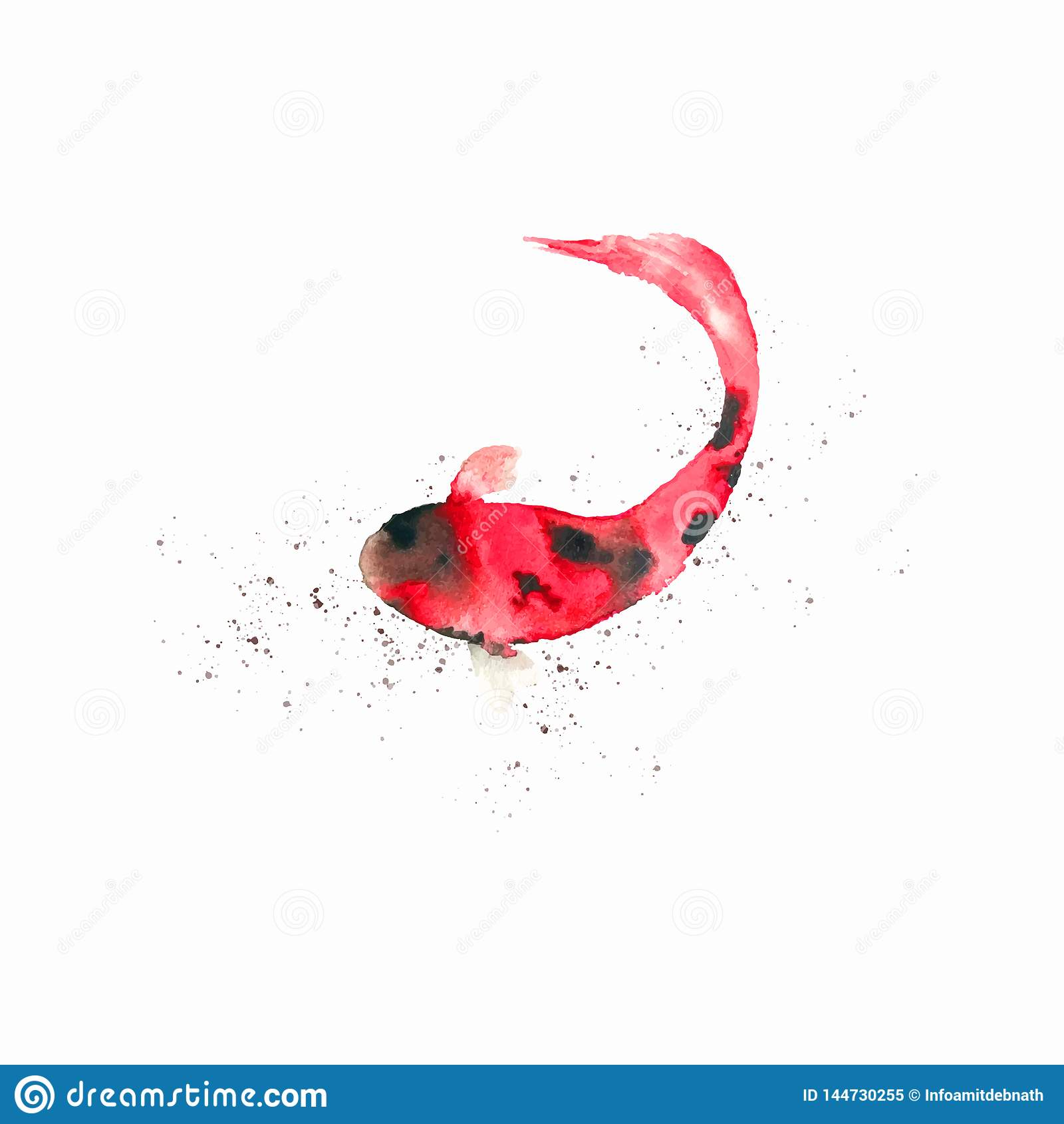 Handgemachte Aquarell-Vektor-Fisch-Grafik Aquarell-Clip-Grafik
