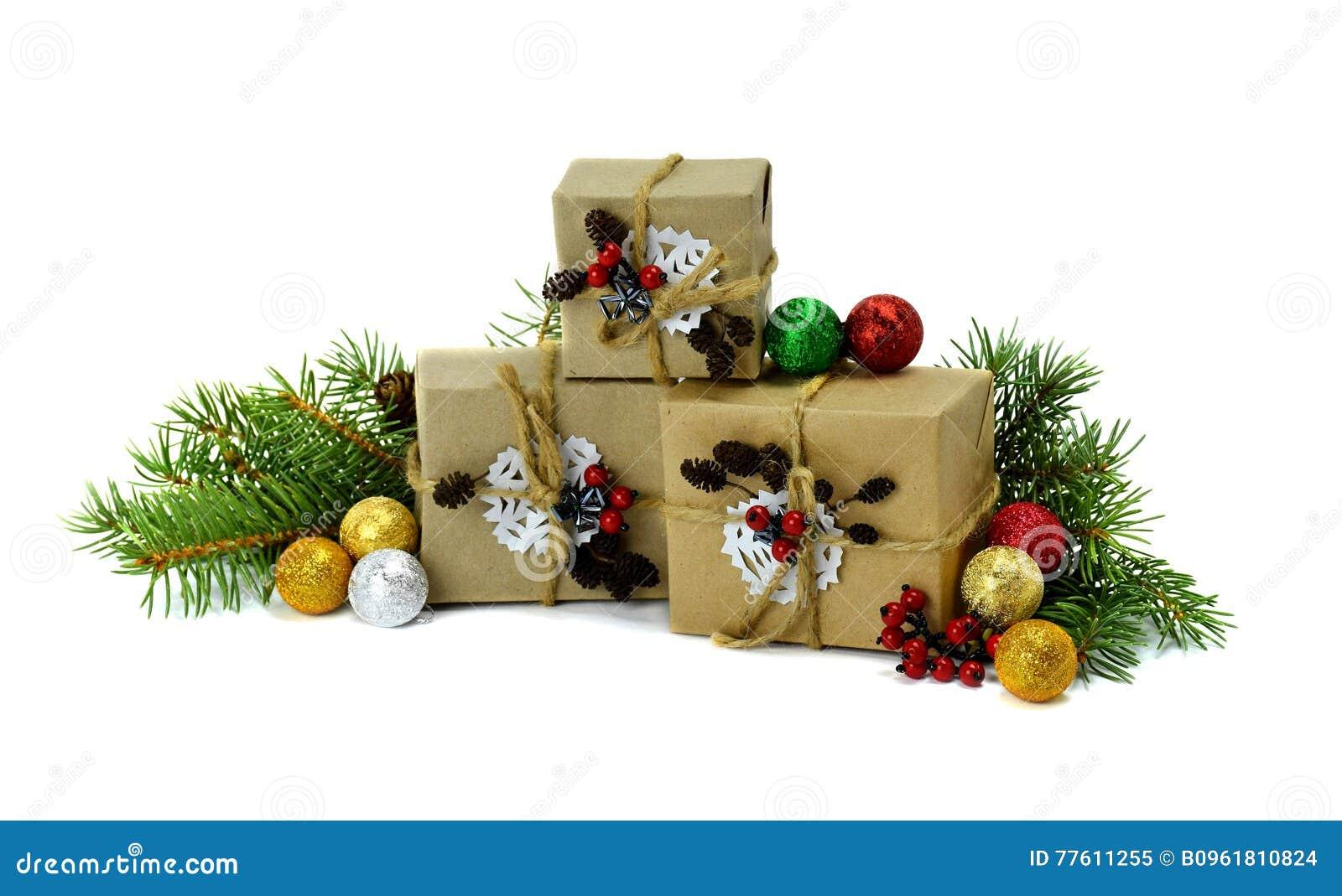 Handgemachte Geschenke, Bereich, Baum, Kegel, Rote Beeren ...
