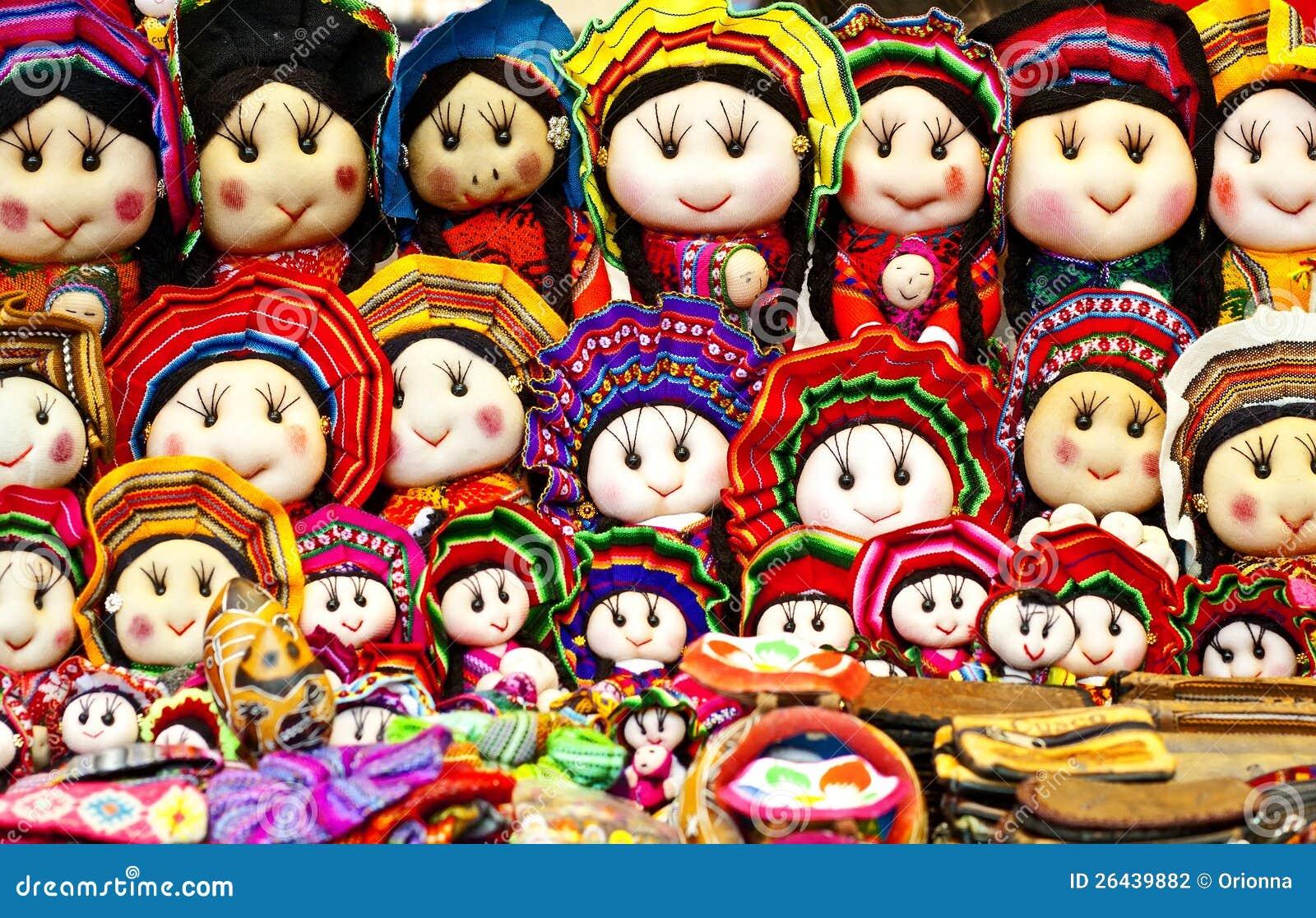 Handgemachte peruanische Puppen, Cuzco, Peru