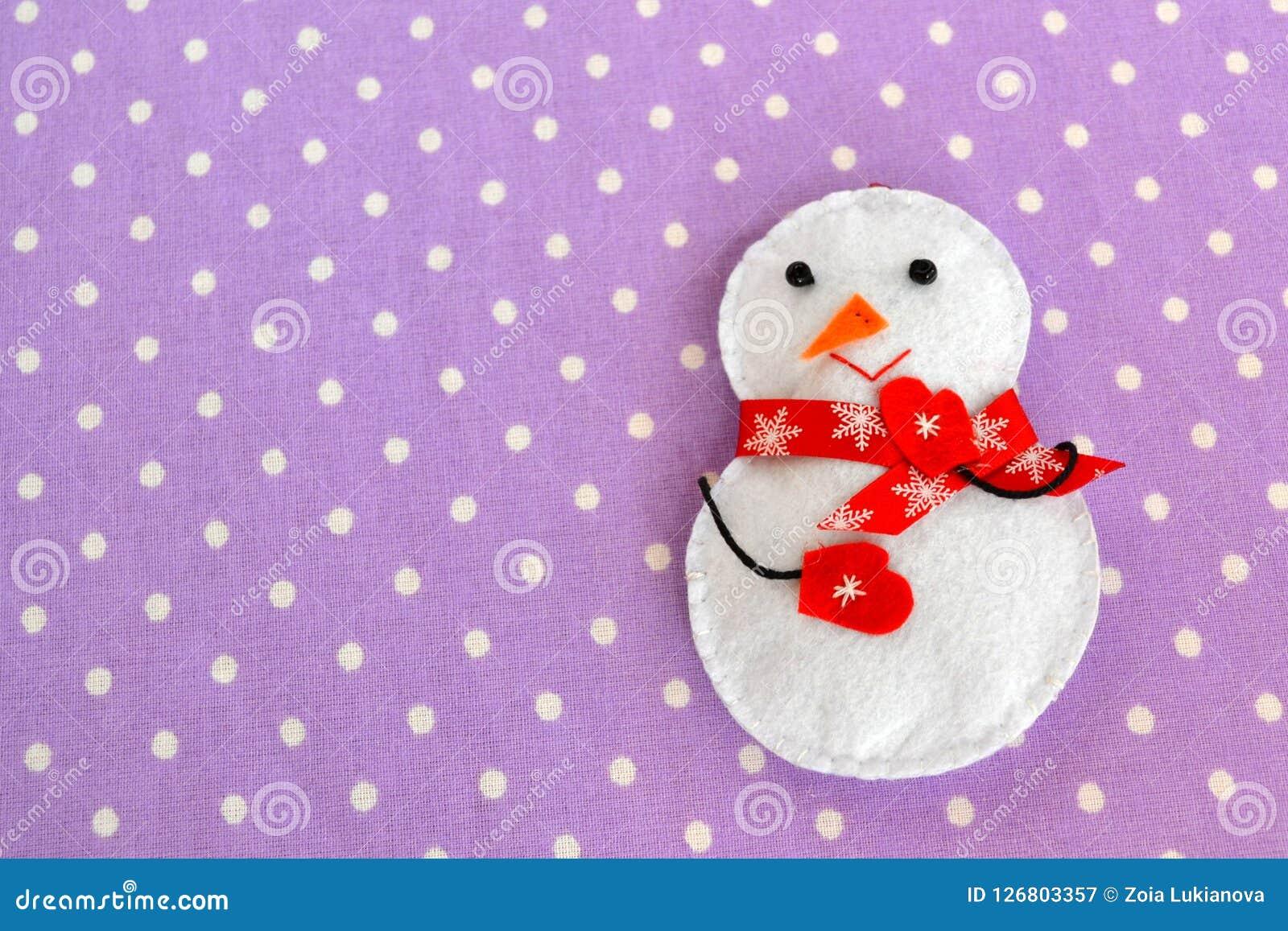 Handgemachtes Filz Weihnachtsschneemannspielzeug Selbst gemachtes Filzhandwerk