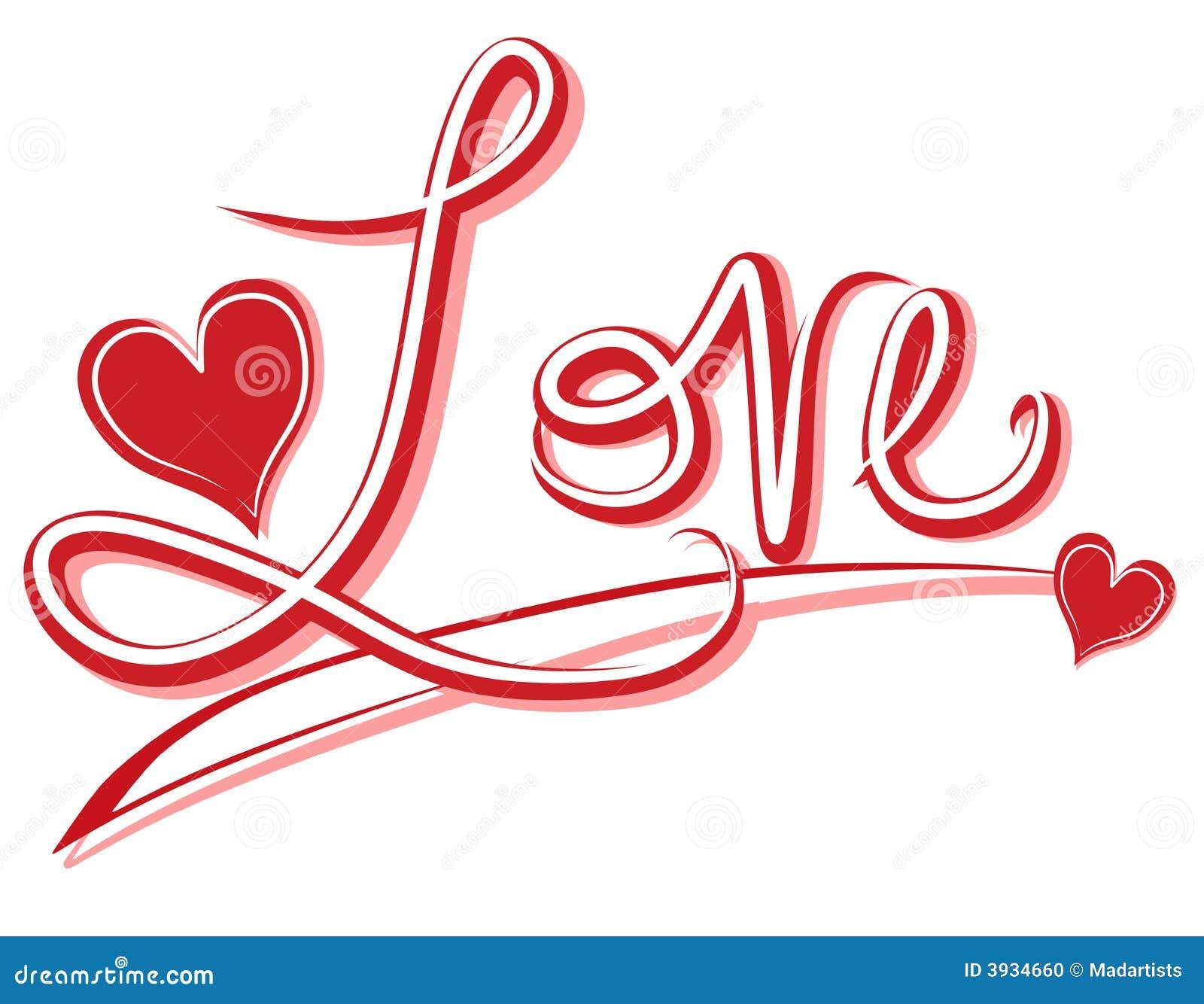 Stockfoto Handgeschriebene Liebes Fahne Oder Logo Bild Bild 3934660