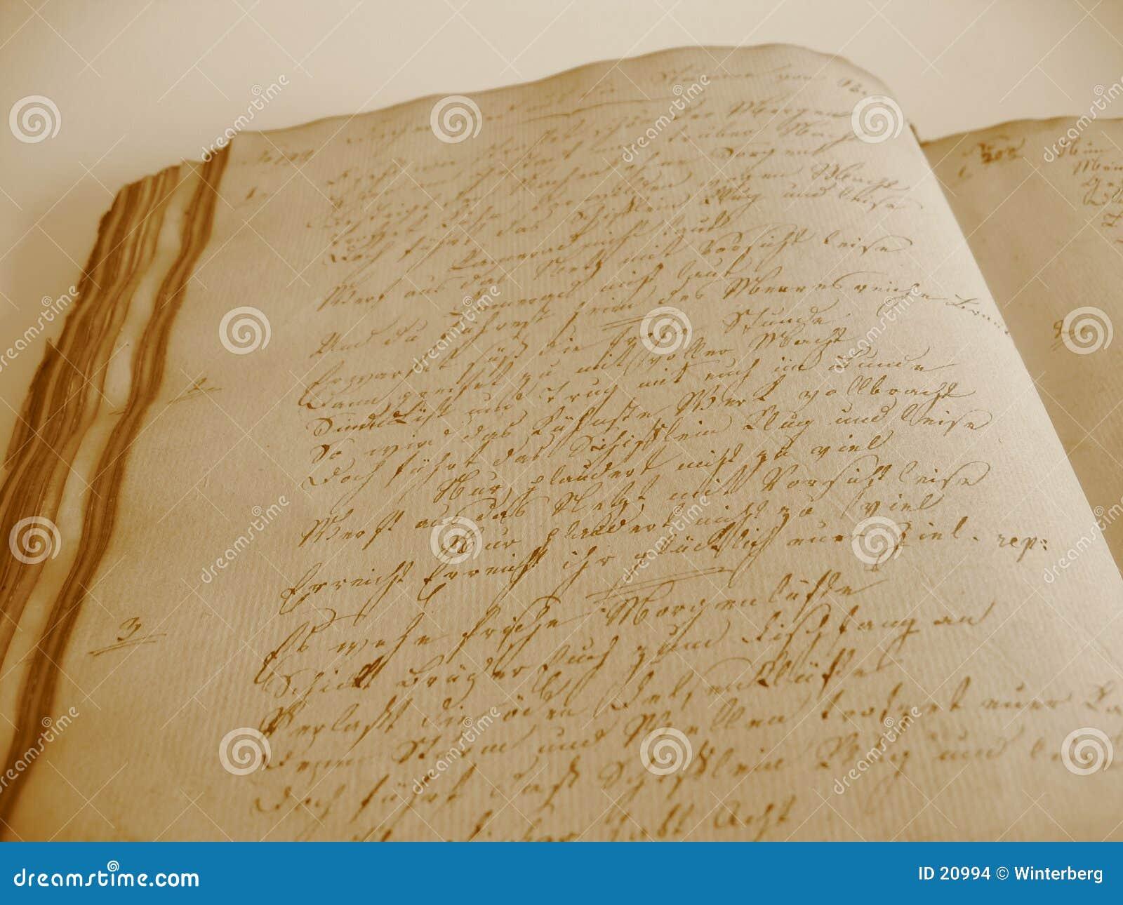 Handgeschriebenes Buch II