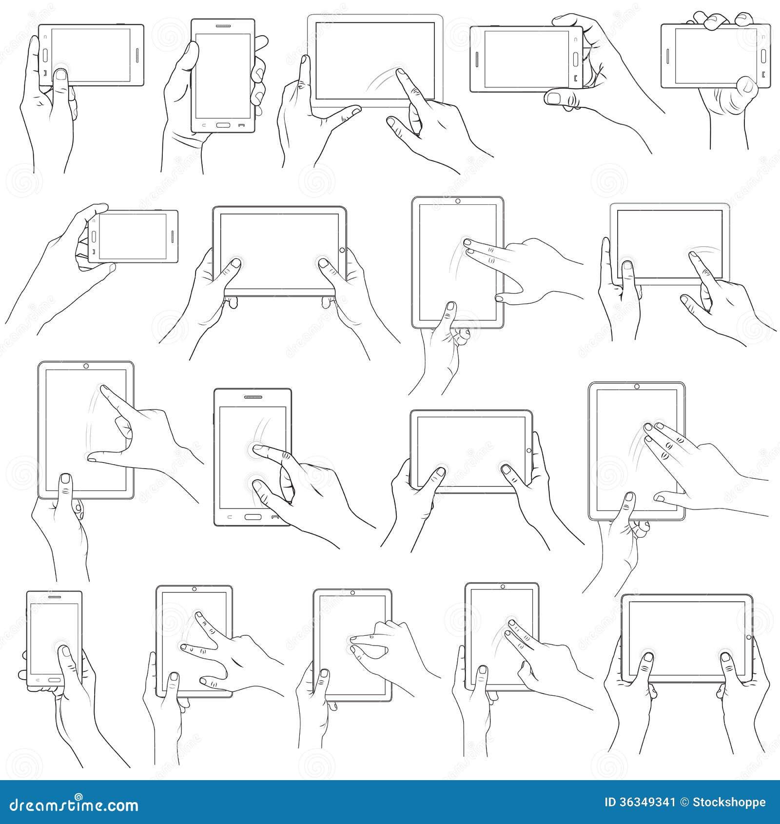 Handgest för pekskärm