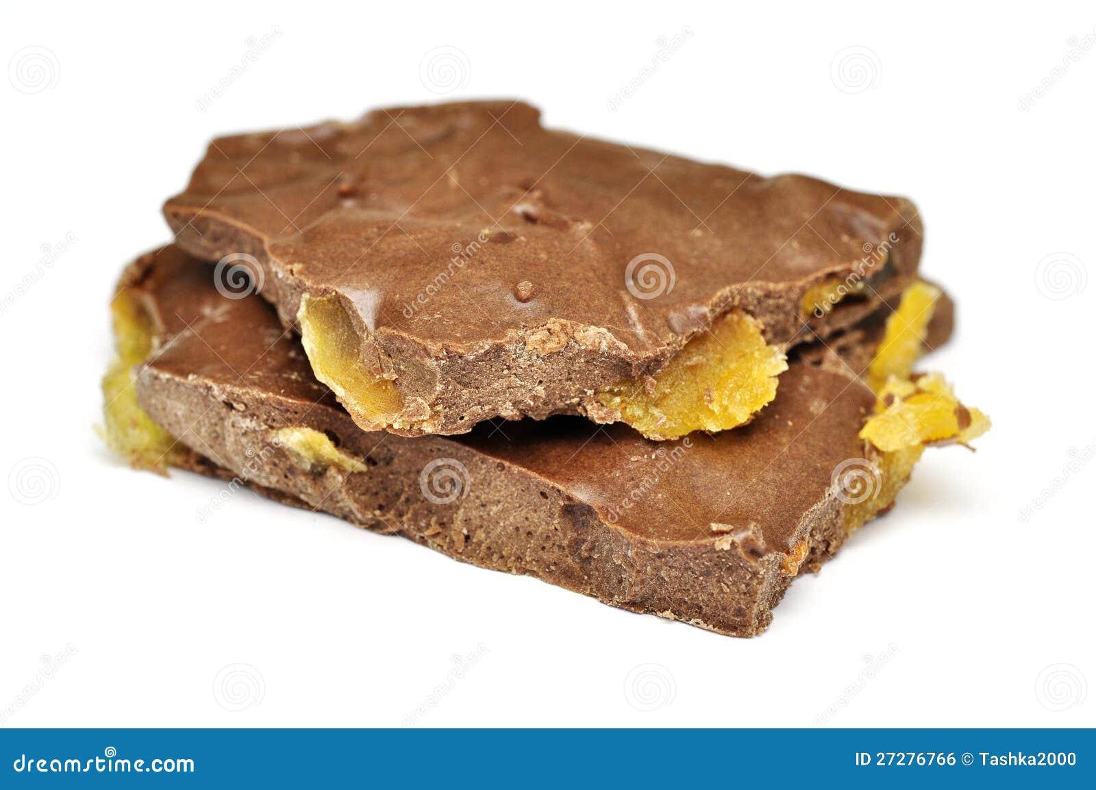 Handgjord choklad med candied frukt