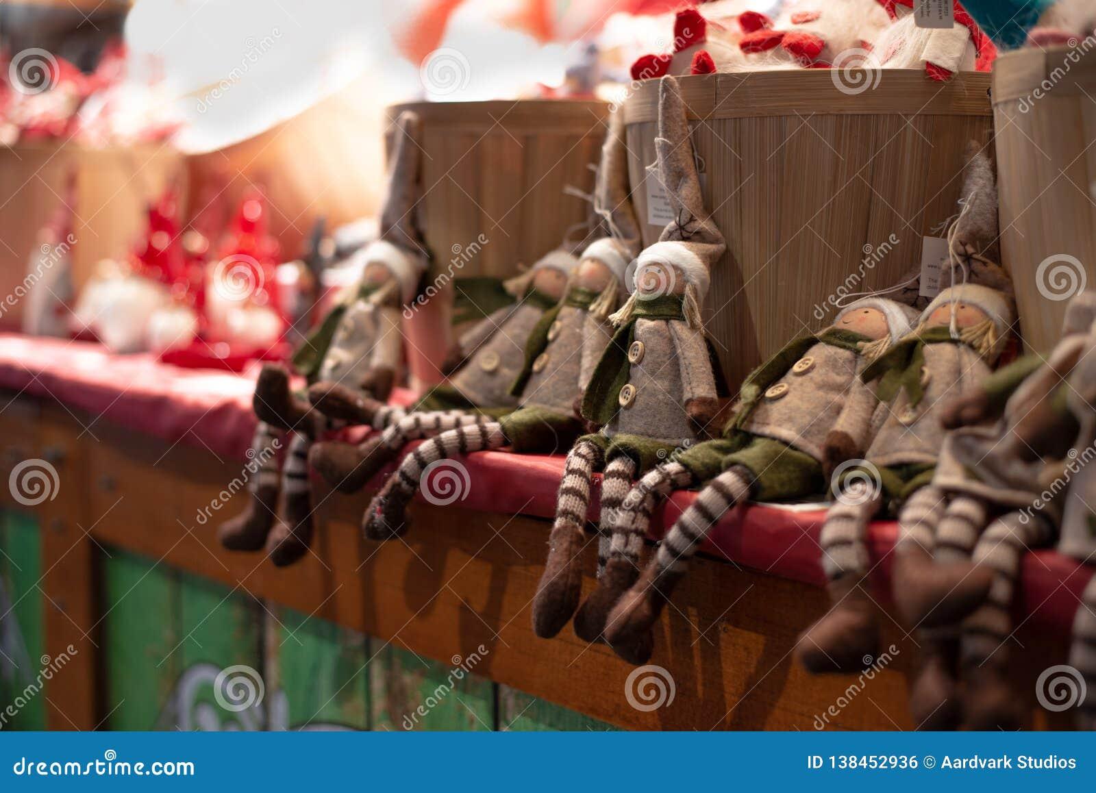 Handgjord leksaker för julälvaflickor