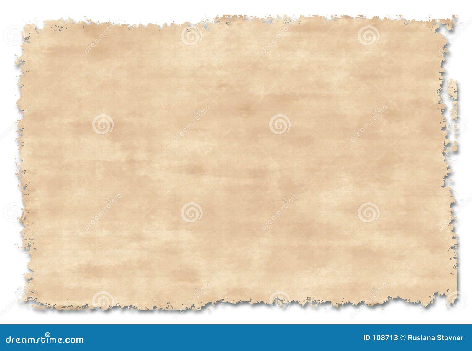 Handgjort gammalt papper