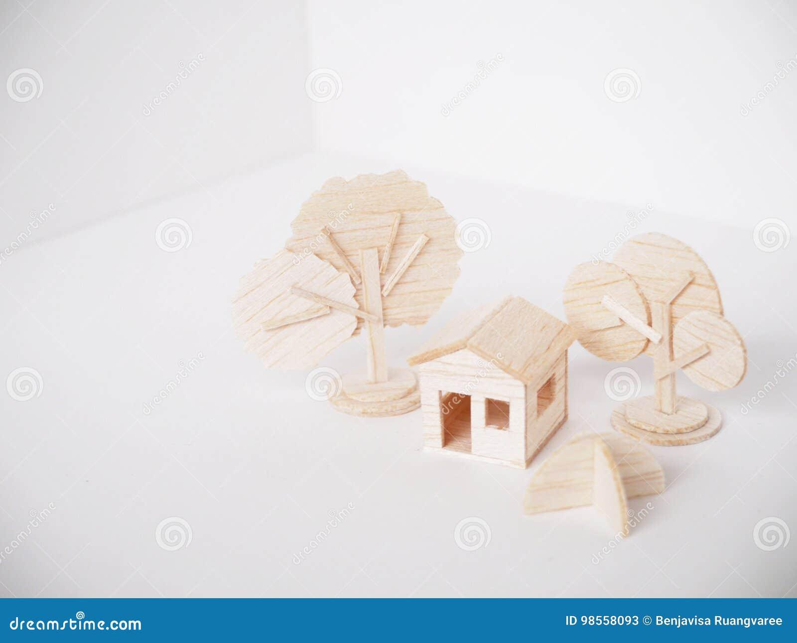 Handgjort minsta för miniatyrträbitande konstverkhantverk för modell