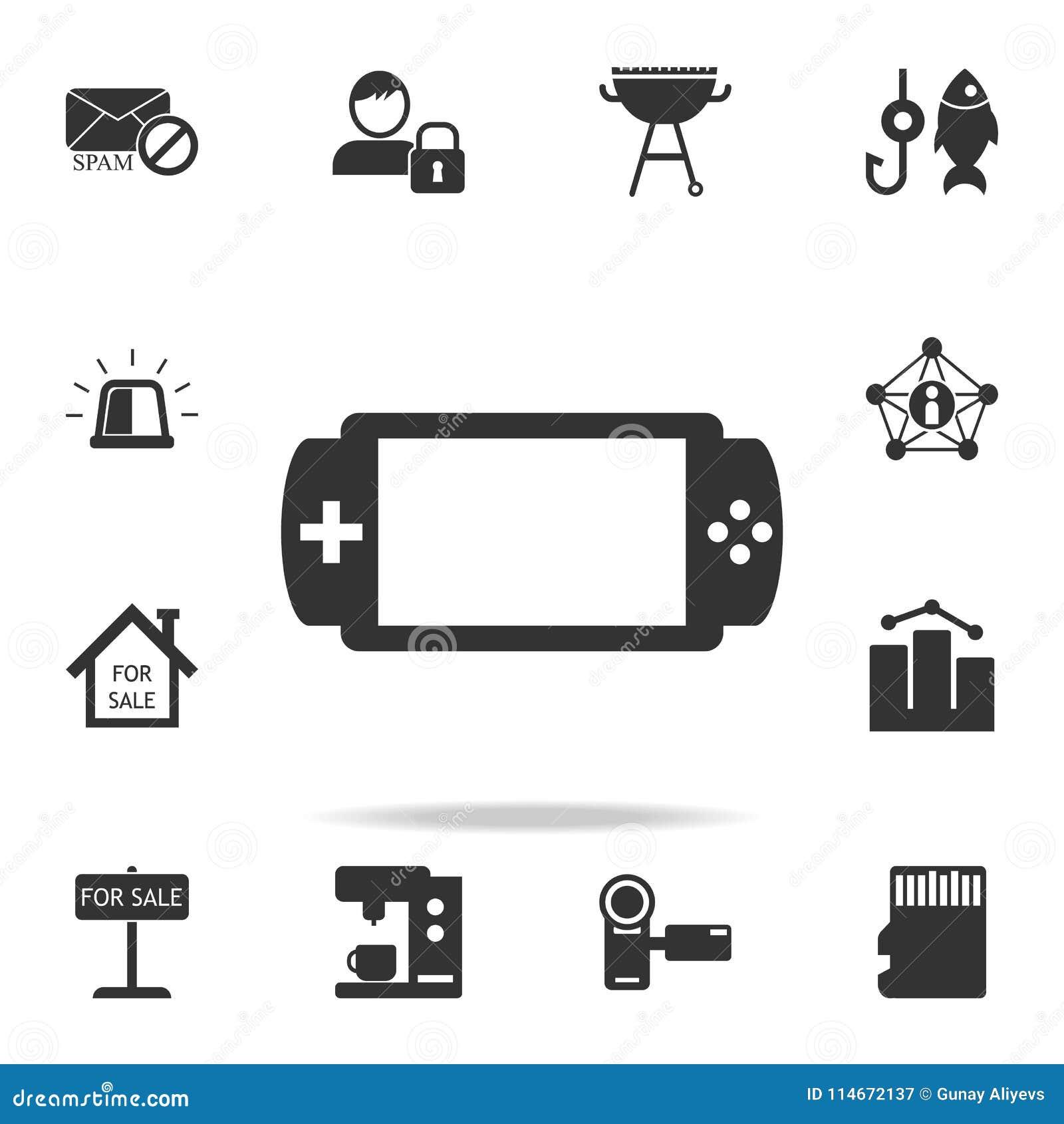 Handheld gemowa konsoli ikona Szczegółowy set sieci ikony Premii ilości graficzny projekt Jeden inkasowe ikony dla stron internet