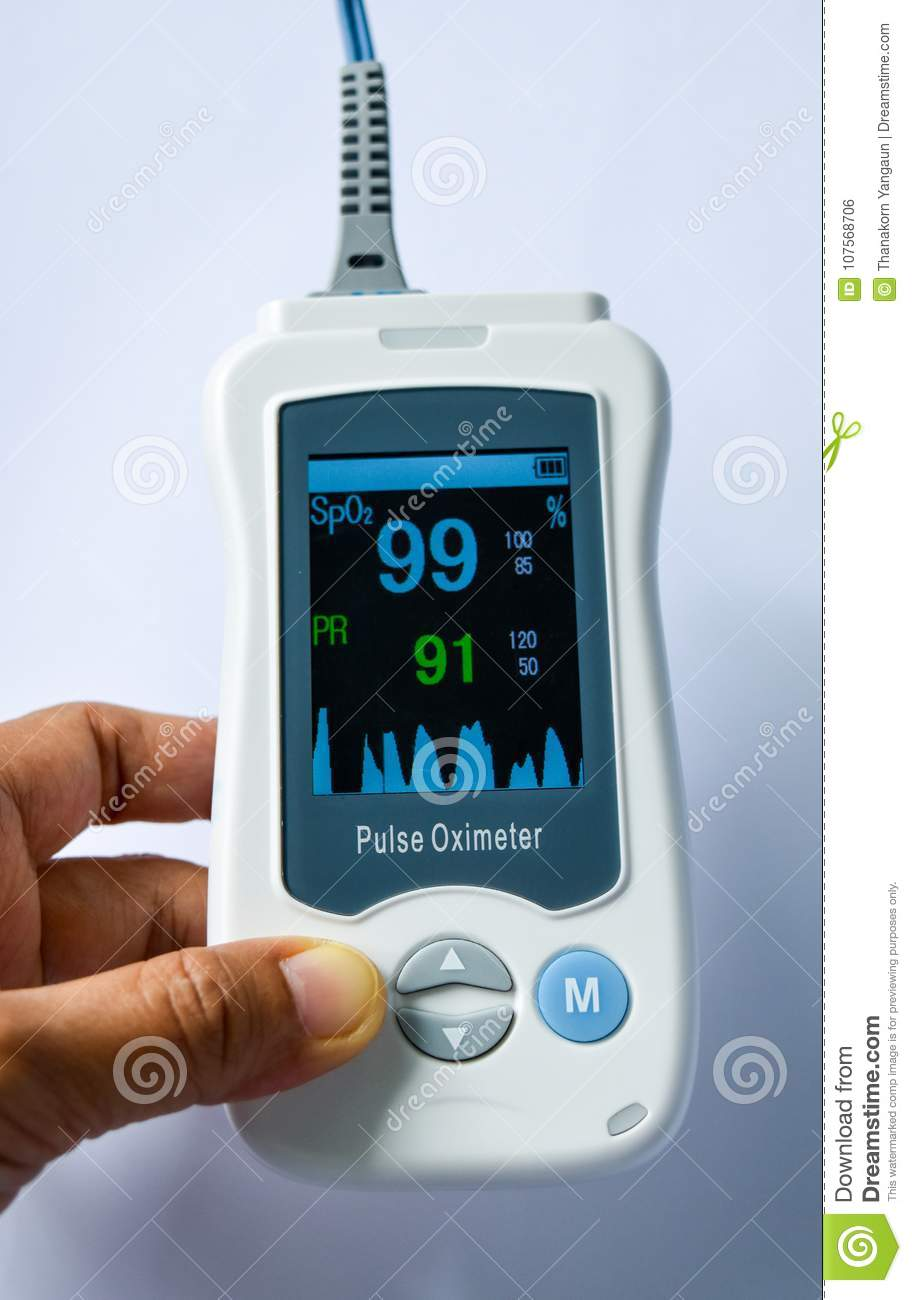 Handheld Pulse Oximeter Medical Device Used To Monitor