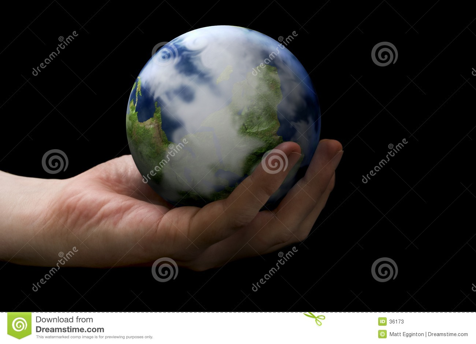 Handholding-Erde
