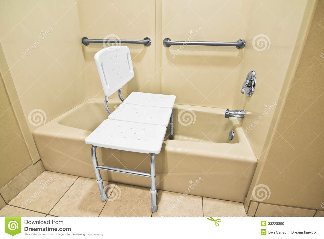 The Chair Helps The Disabled And Handicap Use The Bathtub Easier With