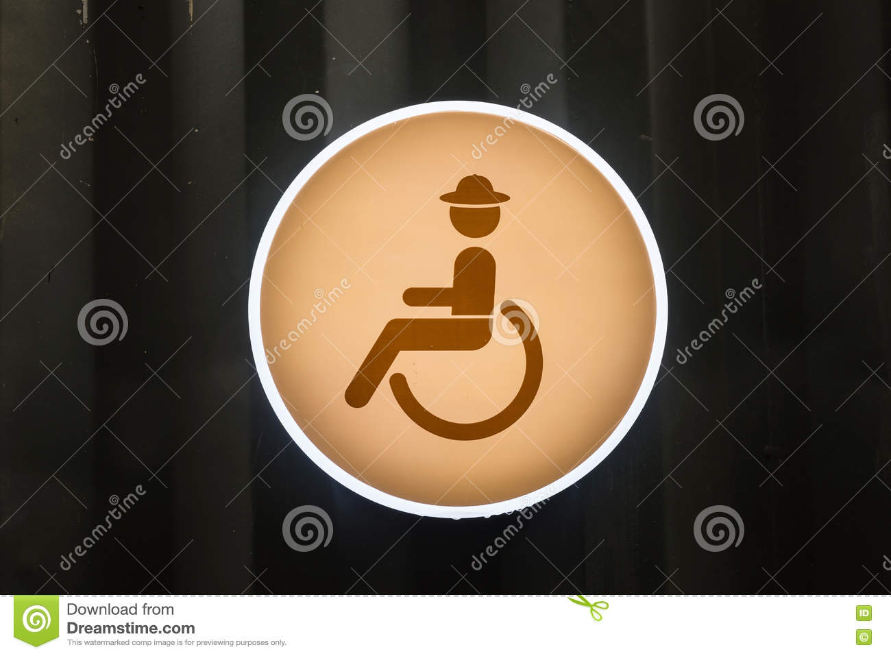 Handicap or Disabled toilet sign