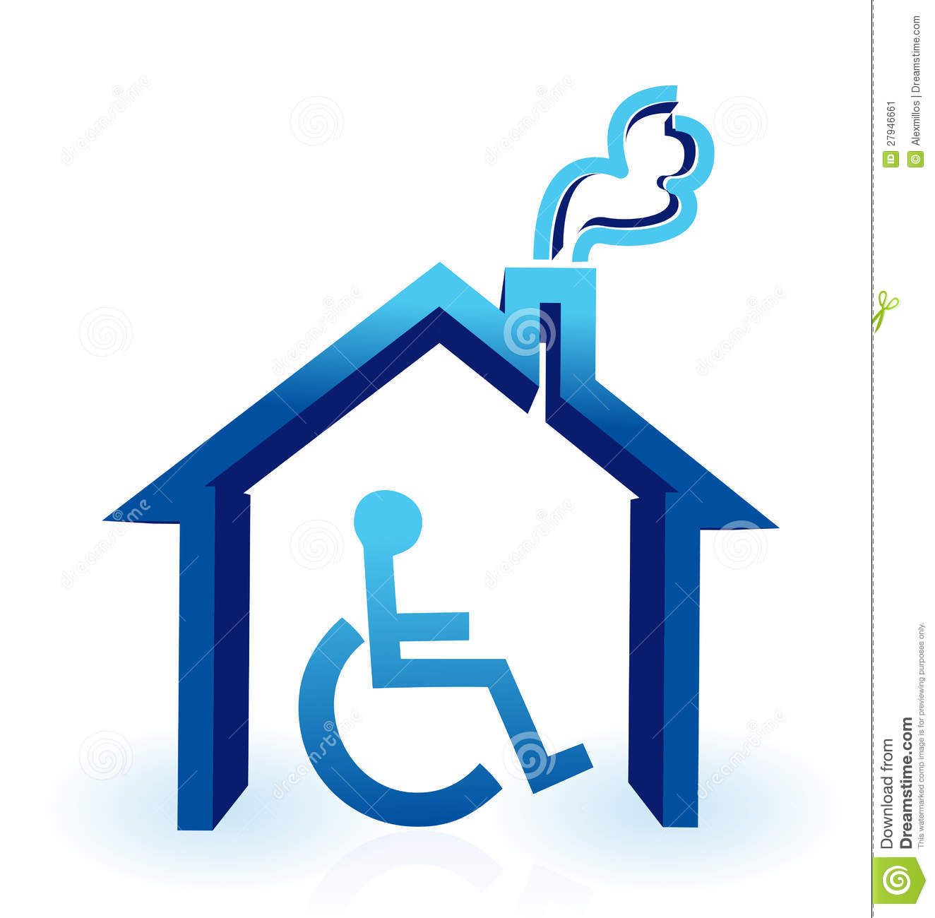 Handicap house stock image image 27946661 Handicapped wheelchair