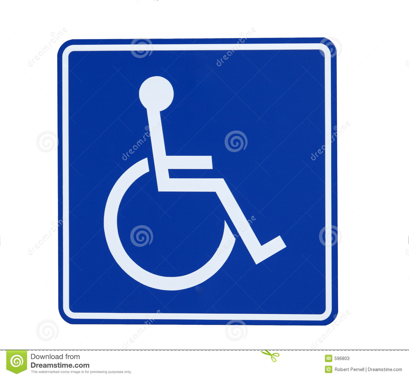 Handicap Sign Stock Image Image Of Reserved Handicapped