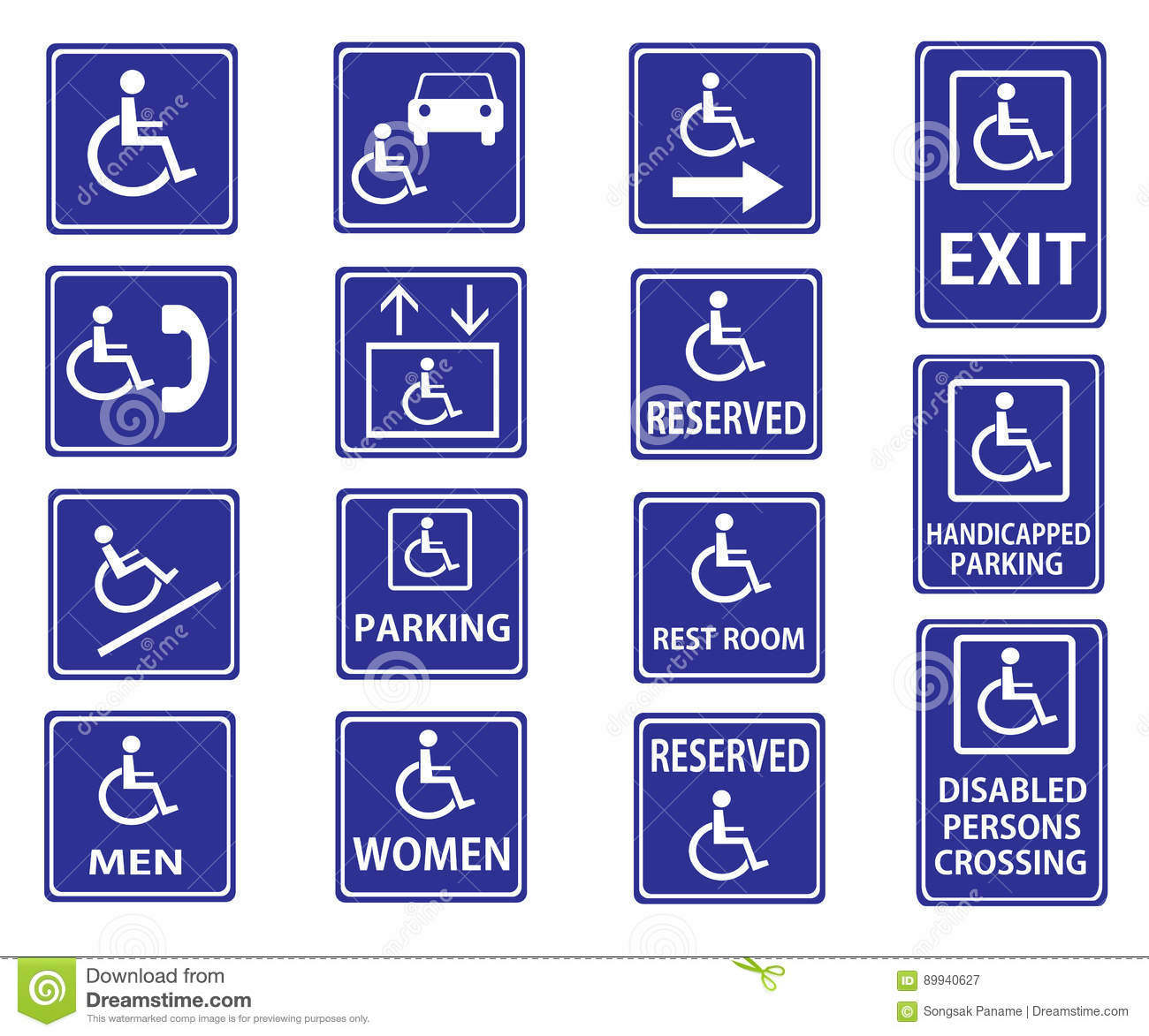 handicap signs with wheelchair stock illustration illustration of