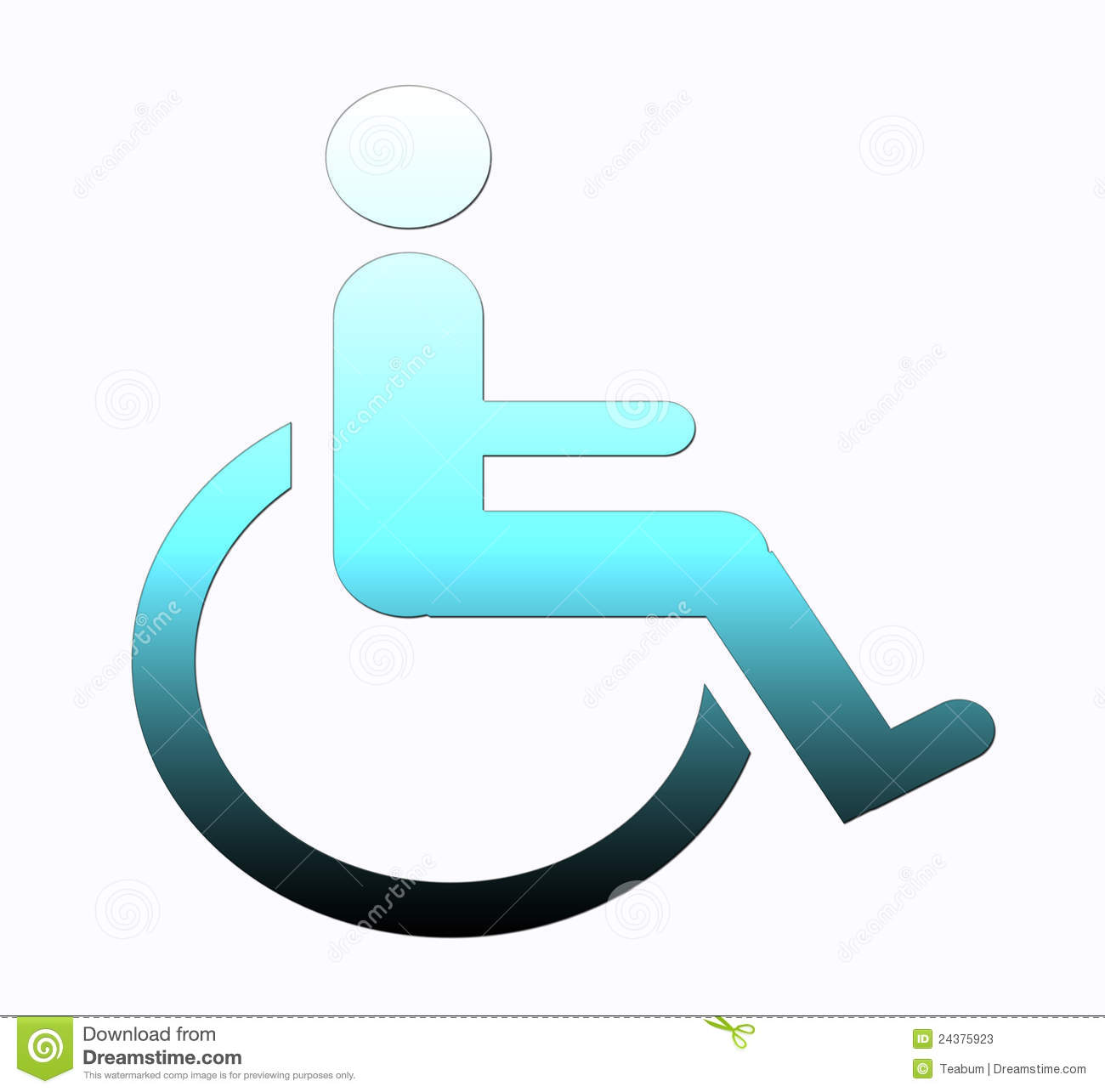 Handicap Symbol, Disabled Sign Stock Photos - Image: 24375923