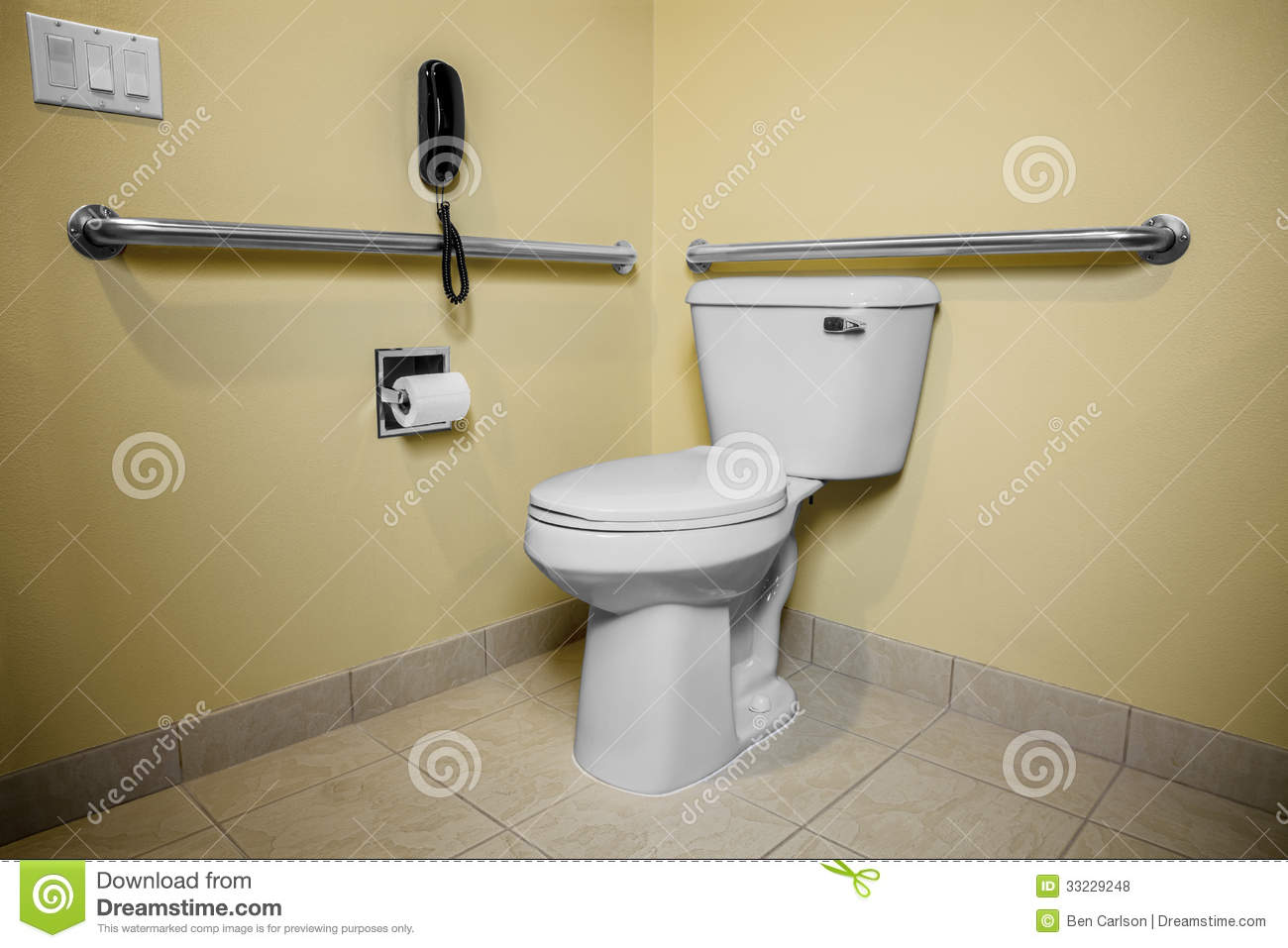 Handicap Toilet Phone Stock Photo Image Of Handicap - Bathroom toilet handles