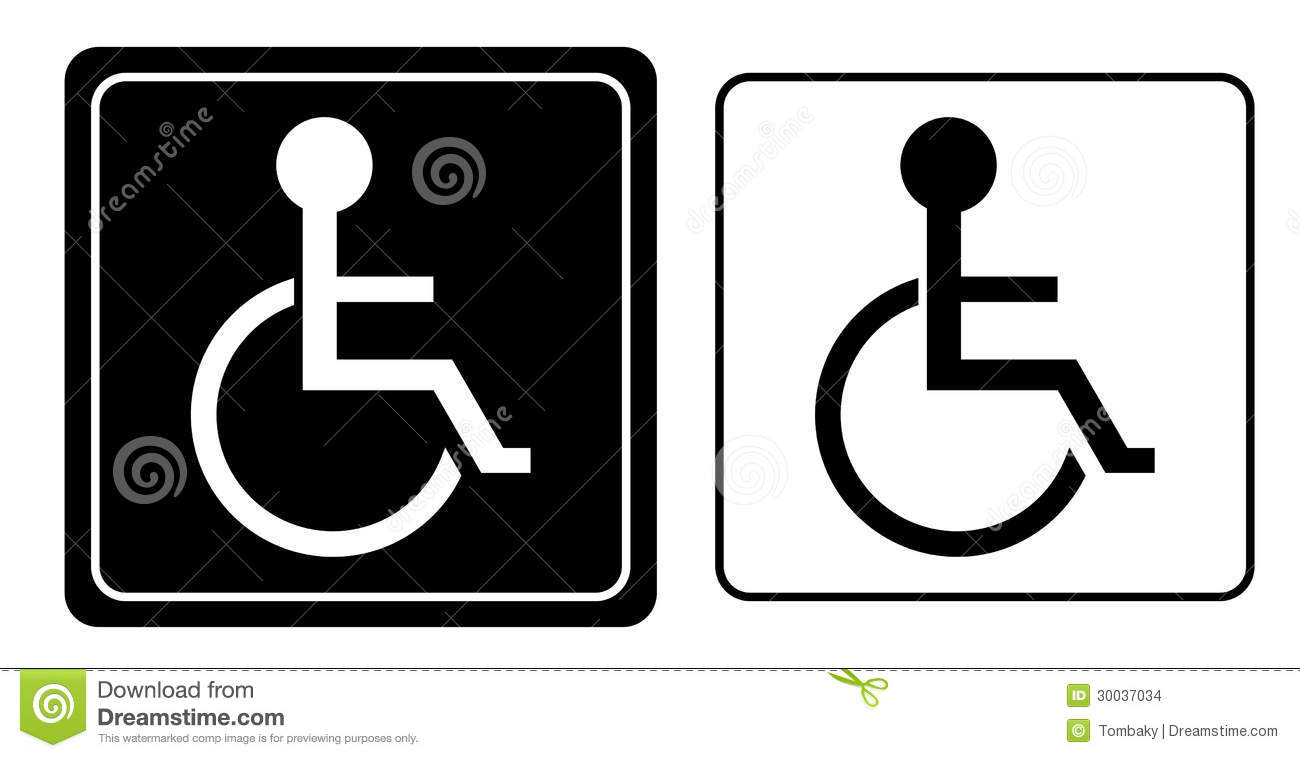 Handicap Or Wheelchair Person Symbol Stock Vector Image