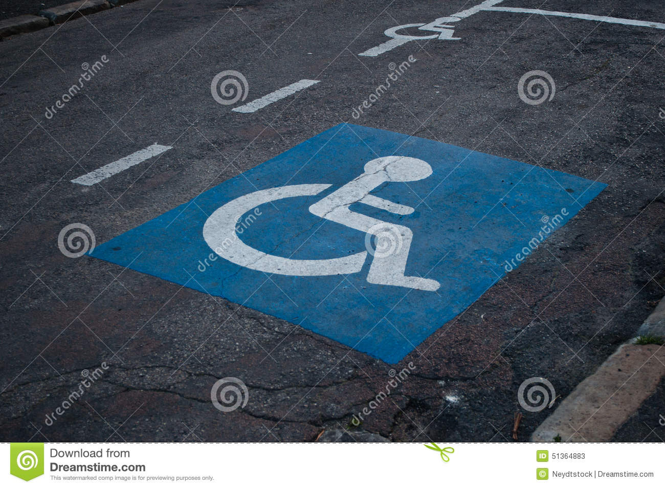 Handicaped parkeringssymbol