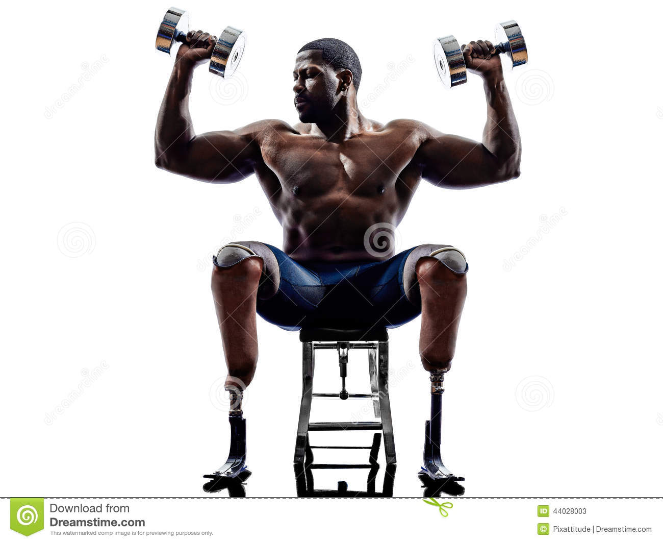 handicapped body builders building weights man with legs
