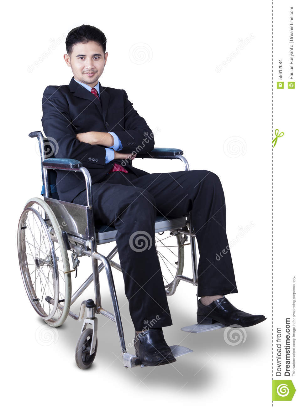 Handicapped Businessman In Wheelchair Stock Photo Image