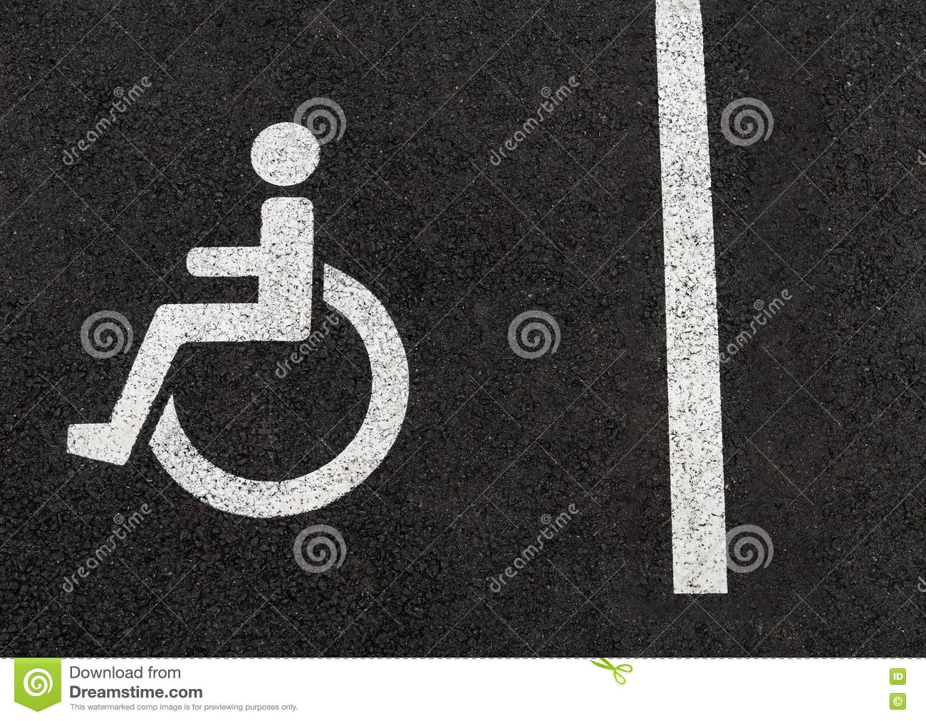 Handicapped Disabled People Parking Lot Sign For Car Wheel Chair ...