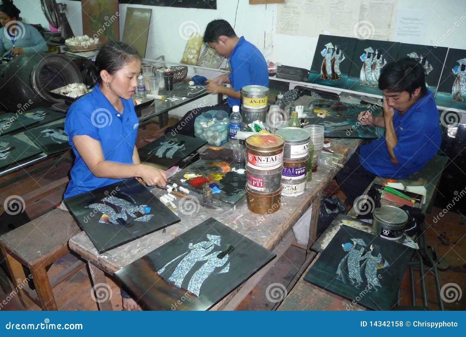 Handicapped Handicrafts Makers In Vietnam Editorial Stock Photo
