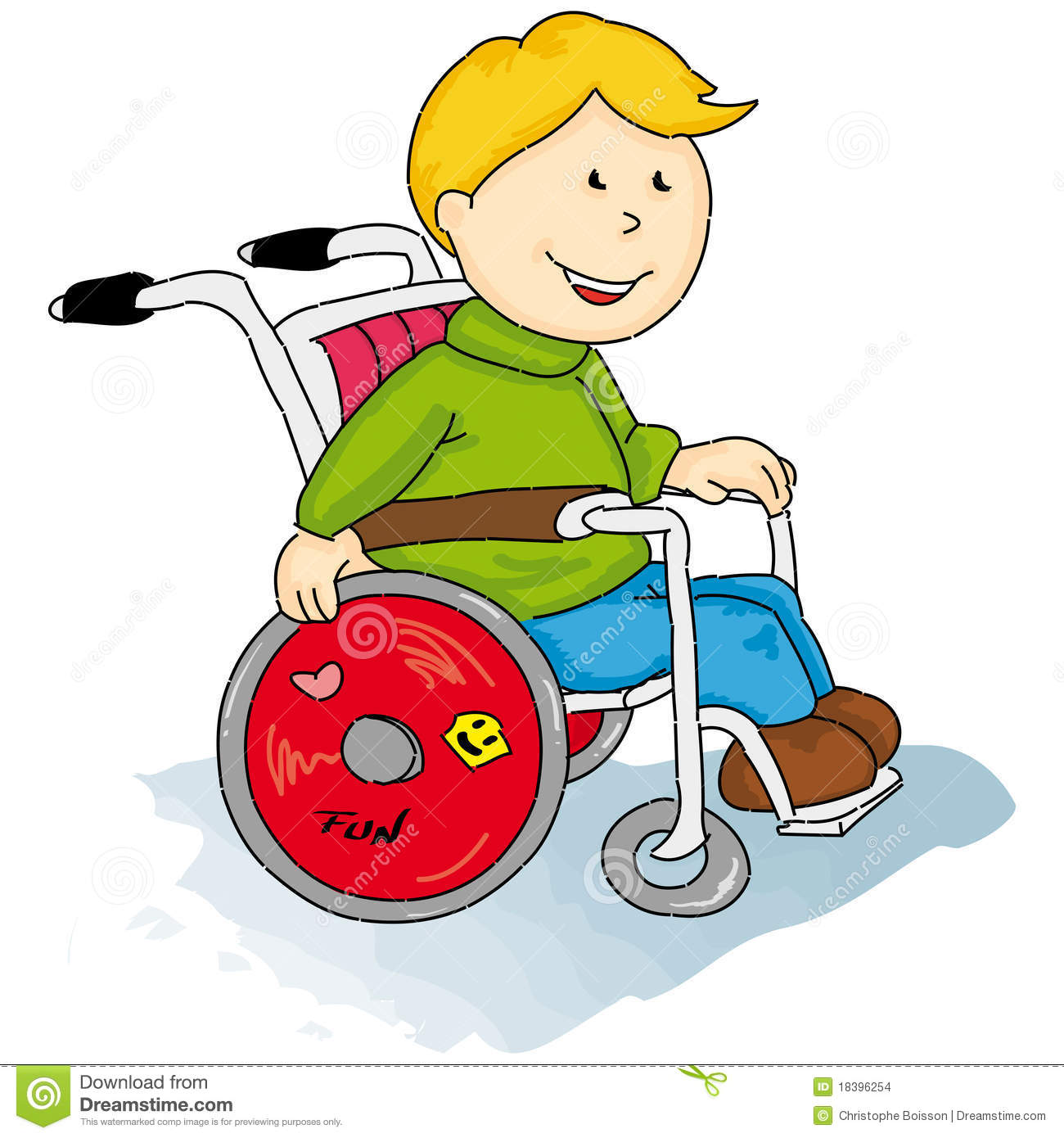 Handicapped Little Boy Stock Images - Image: 18396254