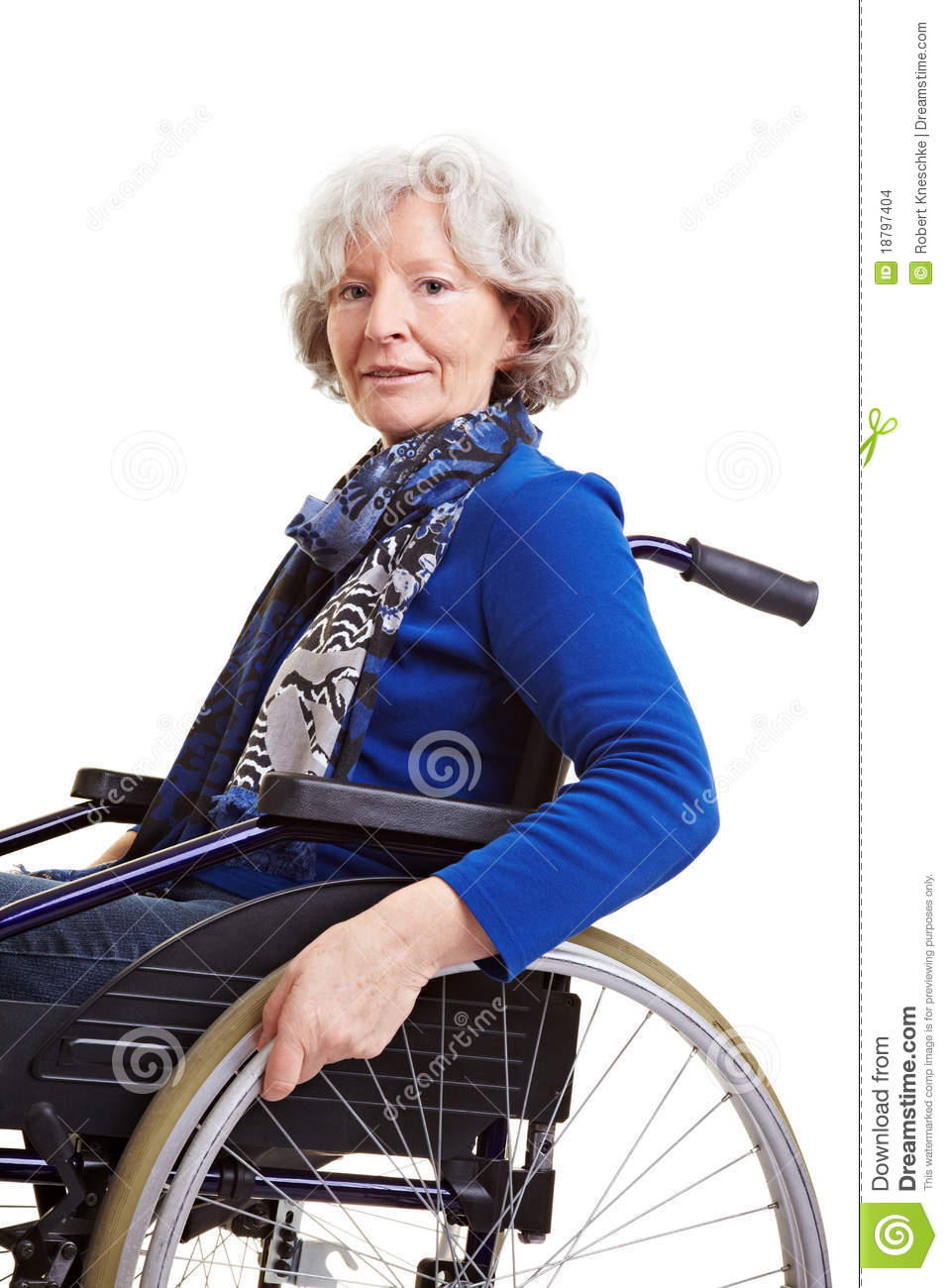 Handicapped Old Woman In Wheelchair Stock Images Image