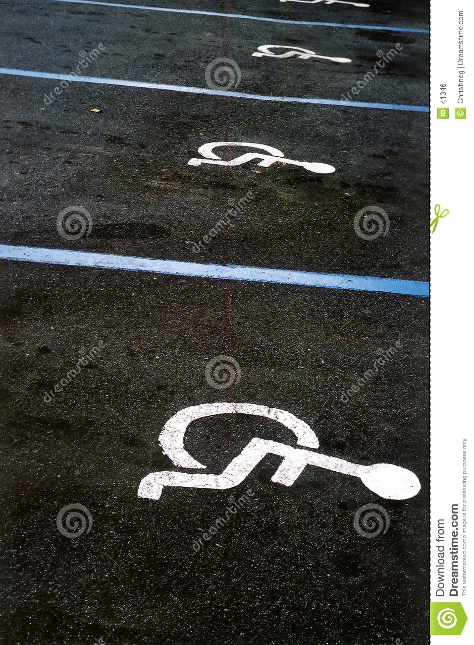 Handicapped parking perspective